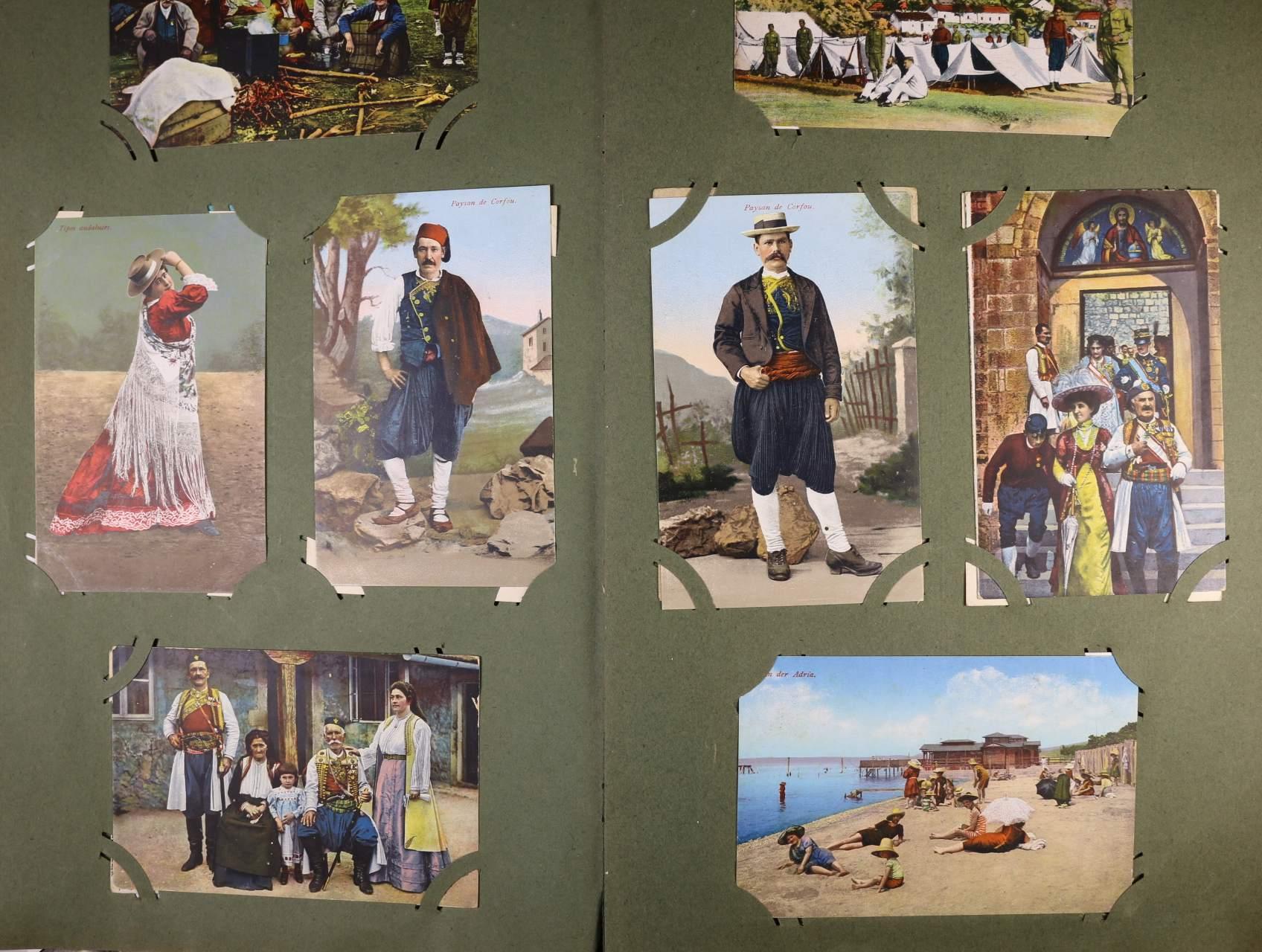 Itálie, Jugoslávie - sbírka cca 286 ks pohlednic, převážně barevných, folklor