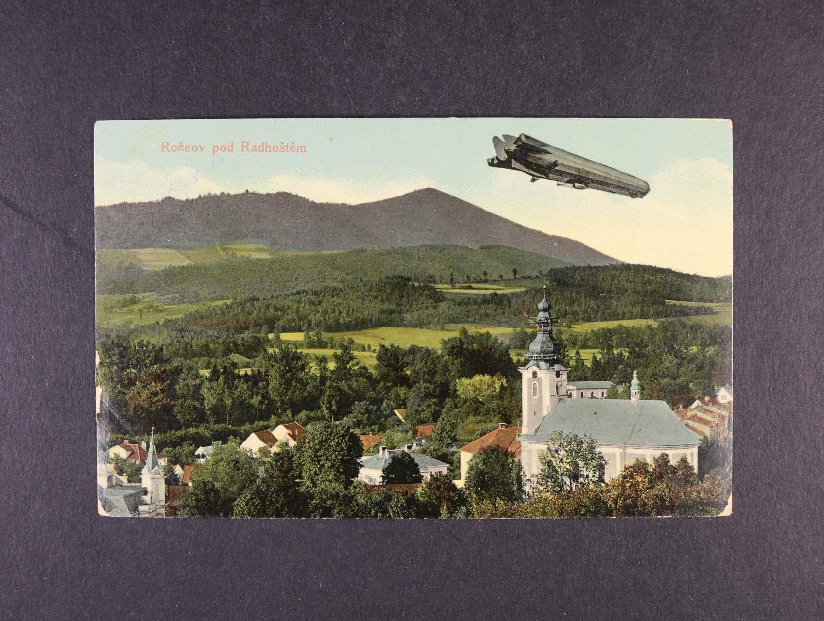 Letecké - bar. pohlednice