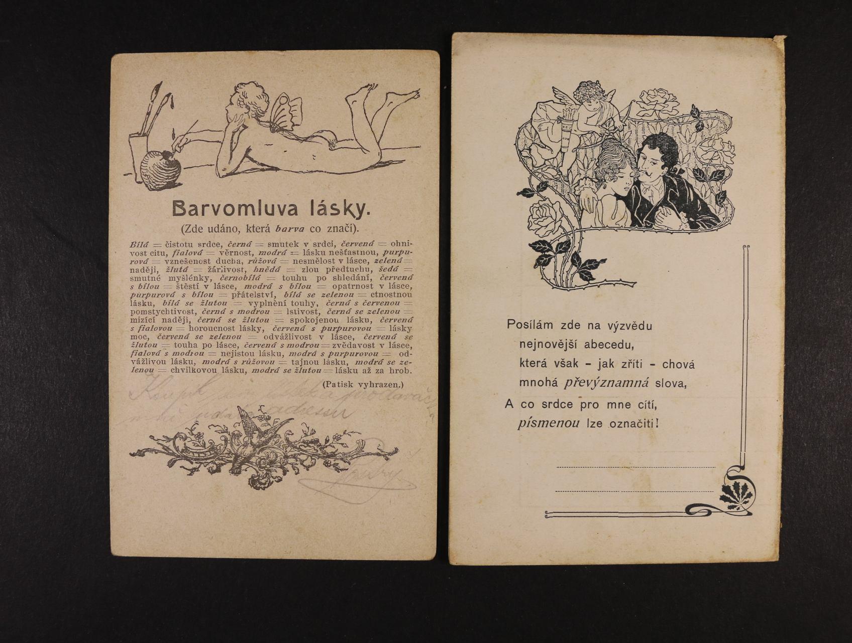 Šváb - jednobar. číslovaná (182) pohlednice