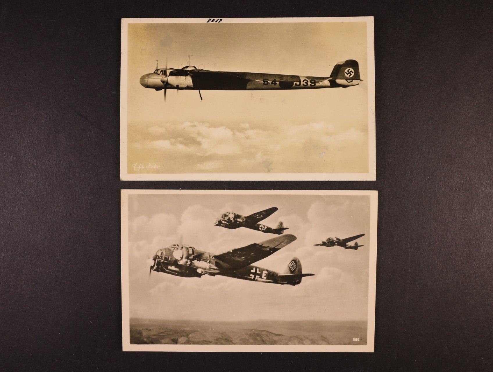 dvě fotopohlednice Unsere Luftwaffe a Ju č. 88