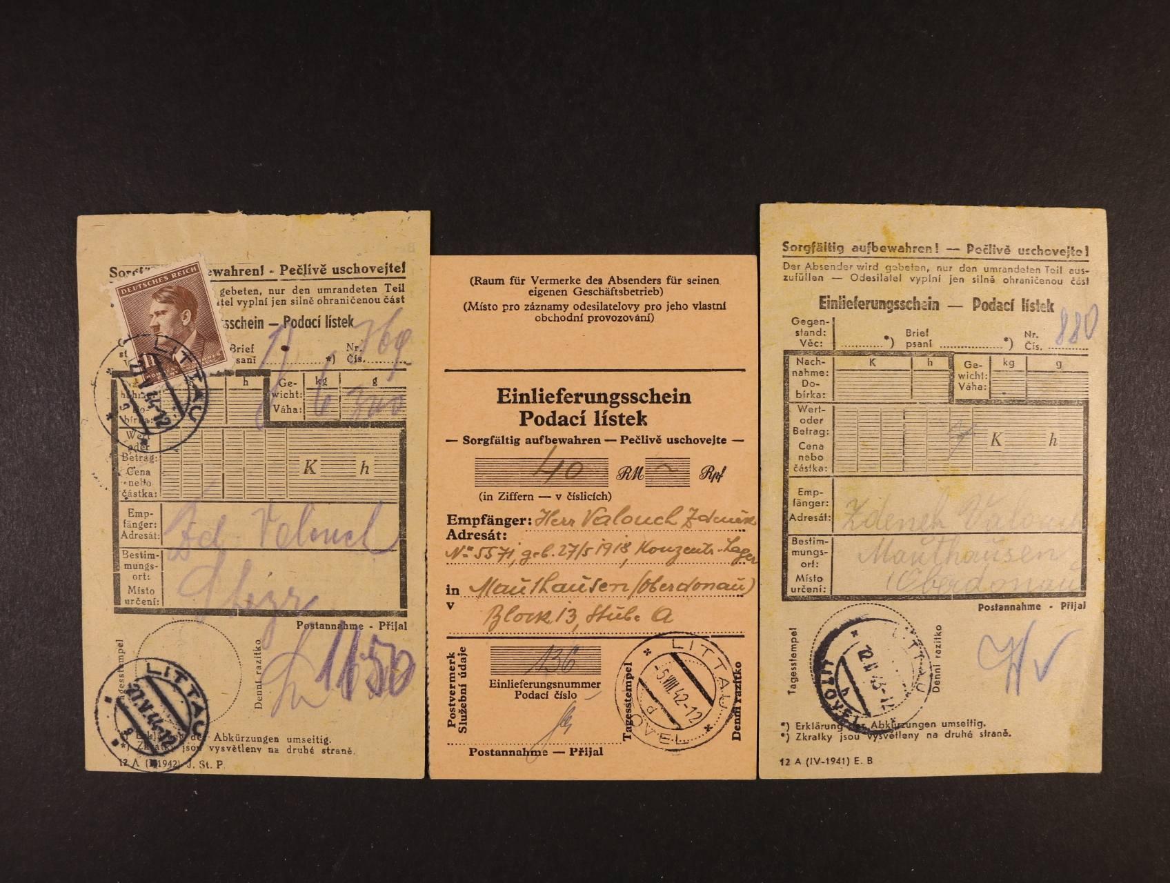 Maudhausen - 1x pod. lístek na dopis, 1x pod. lístek peněžní, 1x pod. lístek do KT Steyer