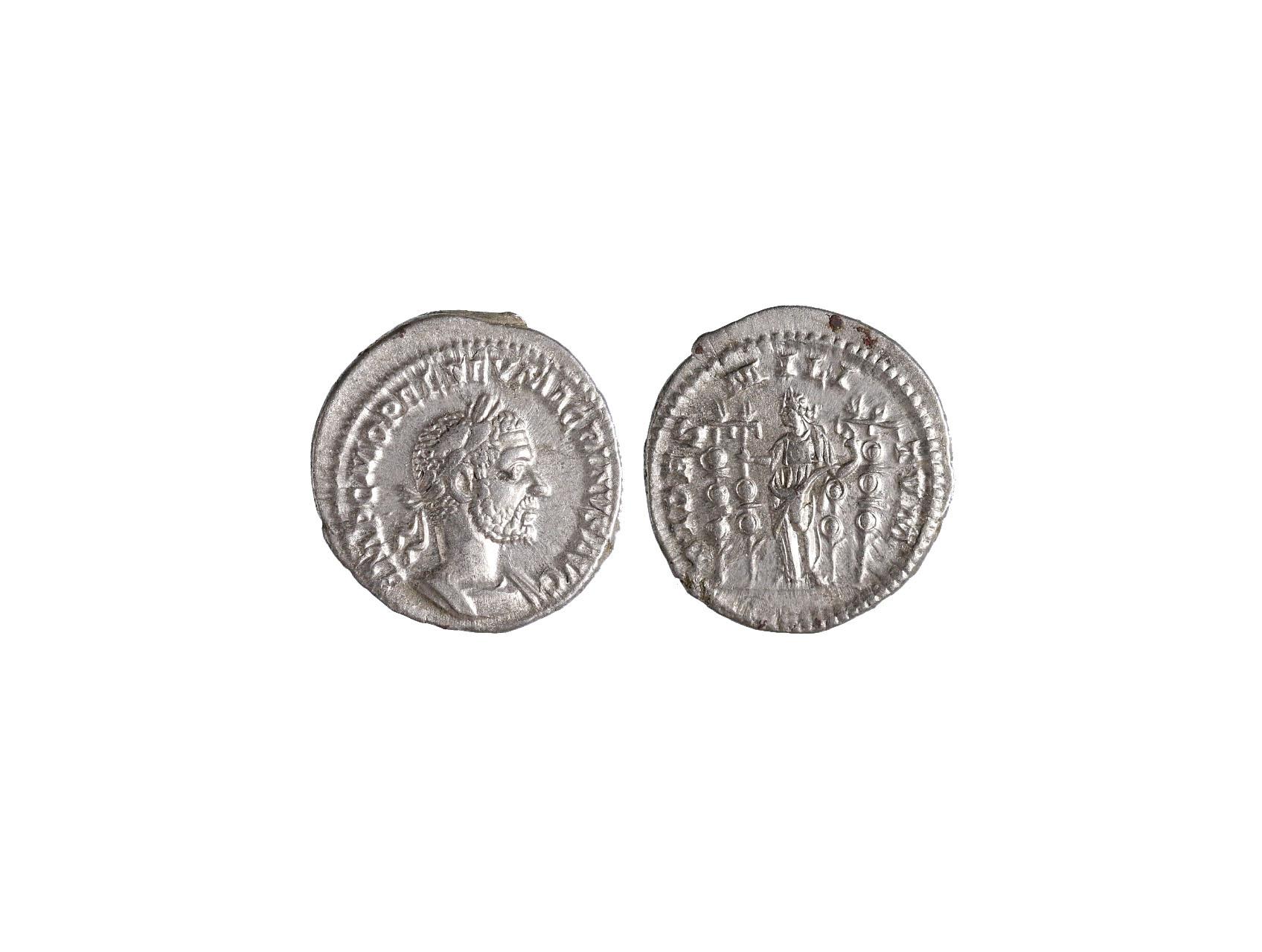 Řím císařství, Macrinus 217 - 218 n.l. - Denár, patina