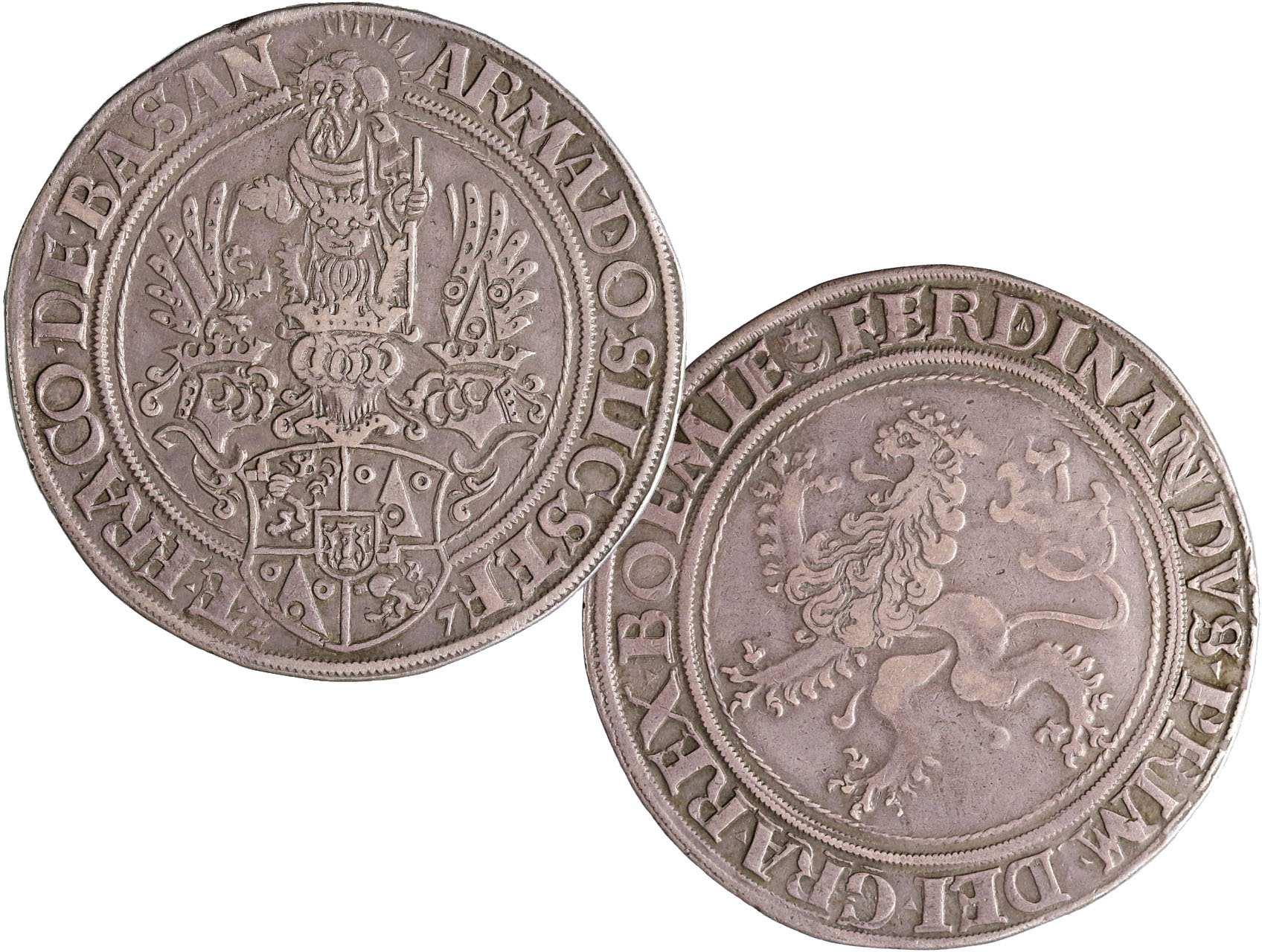 Šlik Štěpán (1505 - 1526), Tolar 1527 Jáchymov - Gebhart, 28,81g, Pol. 155, dvojráz v opise na A