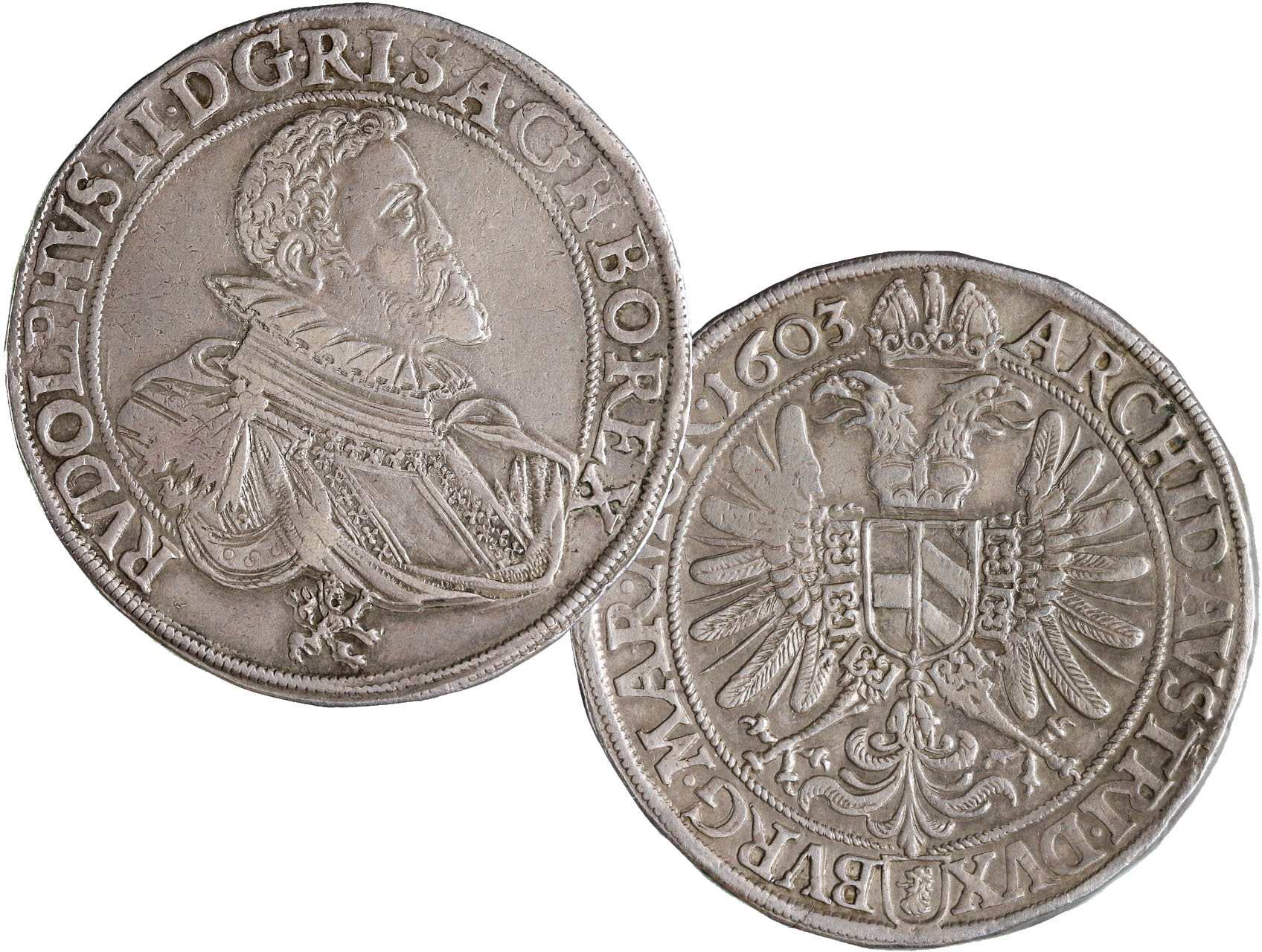 Rudolf II. 1576-1611 - Tolar 1603, České Budějovice - Mottighofer, Hal. 431, Ditik. 398