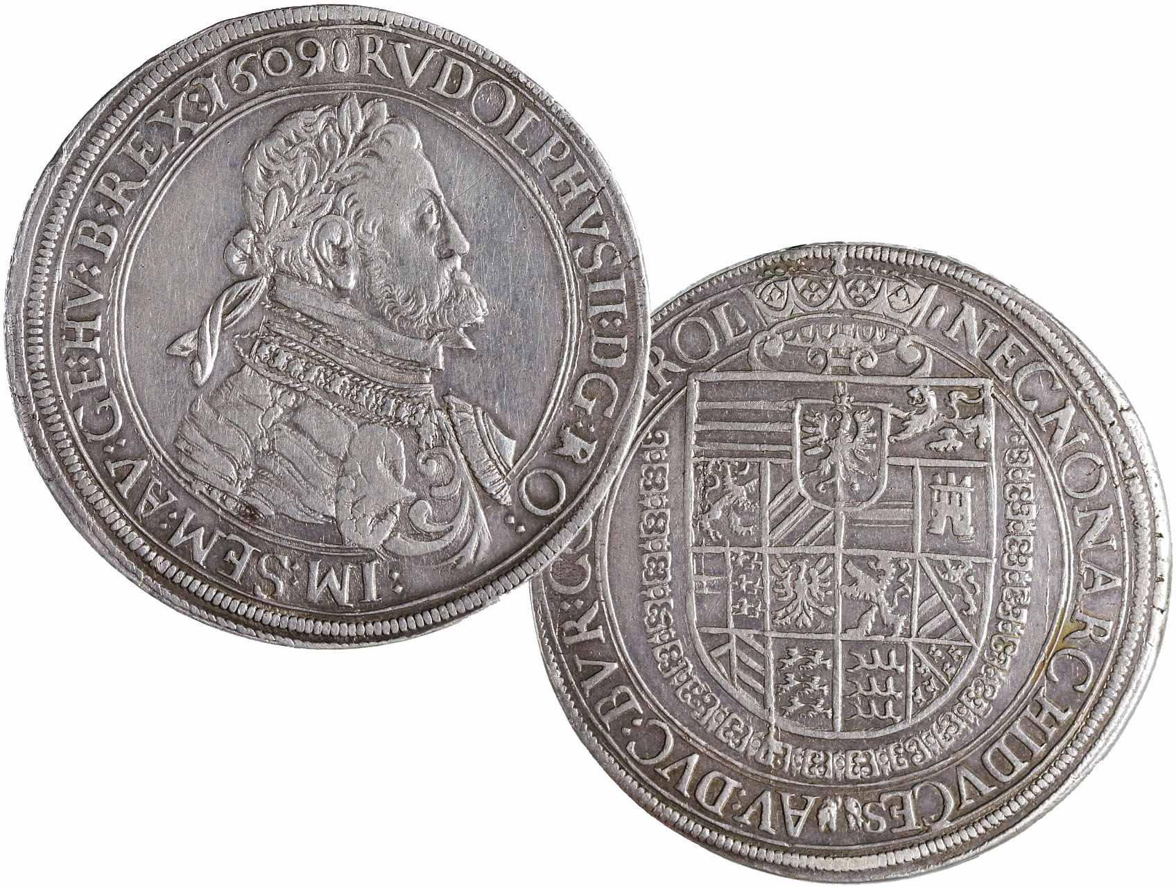 Rudolf II. 1576-1611 - Tolar 1609, Graz, KM102, malá dírka na hraně