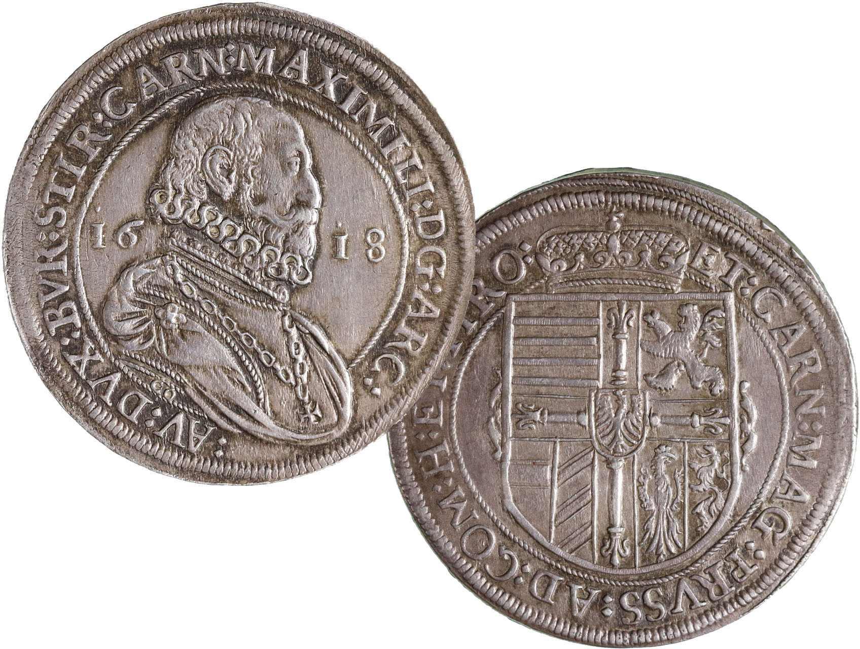 Arcivévoda Maximilián 1590-1618, Tolar 1618, Hall, KM227.2
