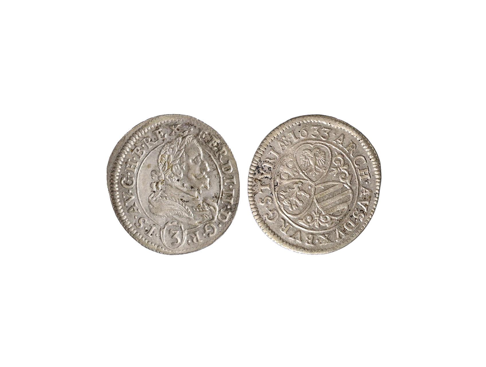 Ferdinand II. 1619-1637 - 3 krejcar 1633