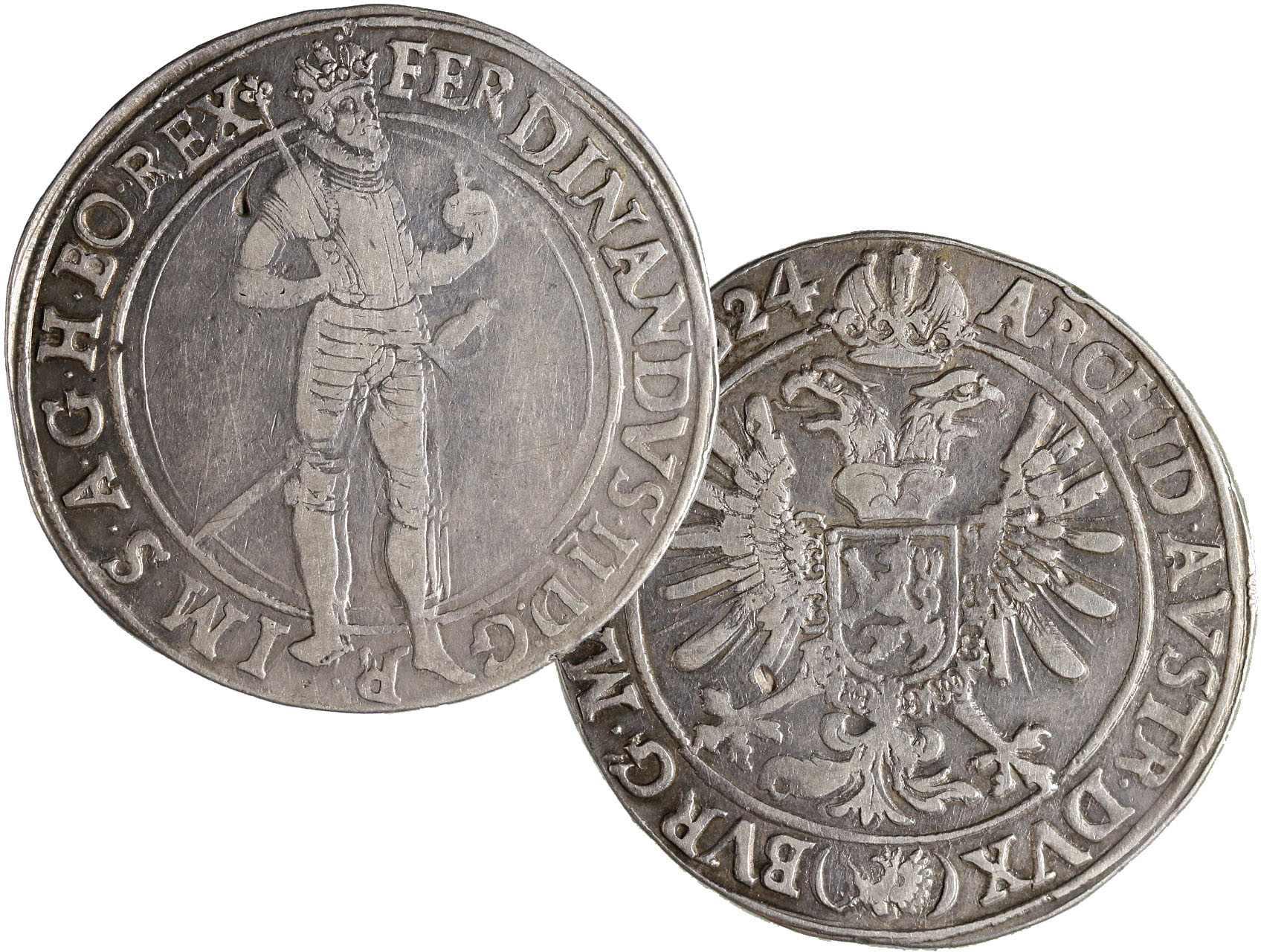 Ferdinand II. 1619-1637 - Tolar 1624 Praha Suttner, Hal. 741