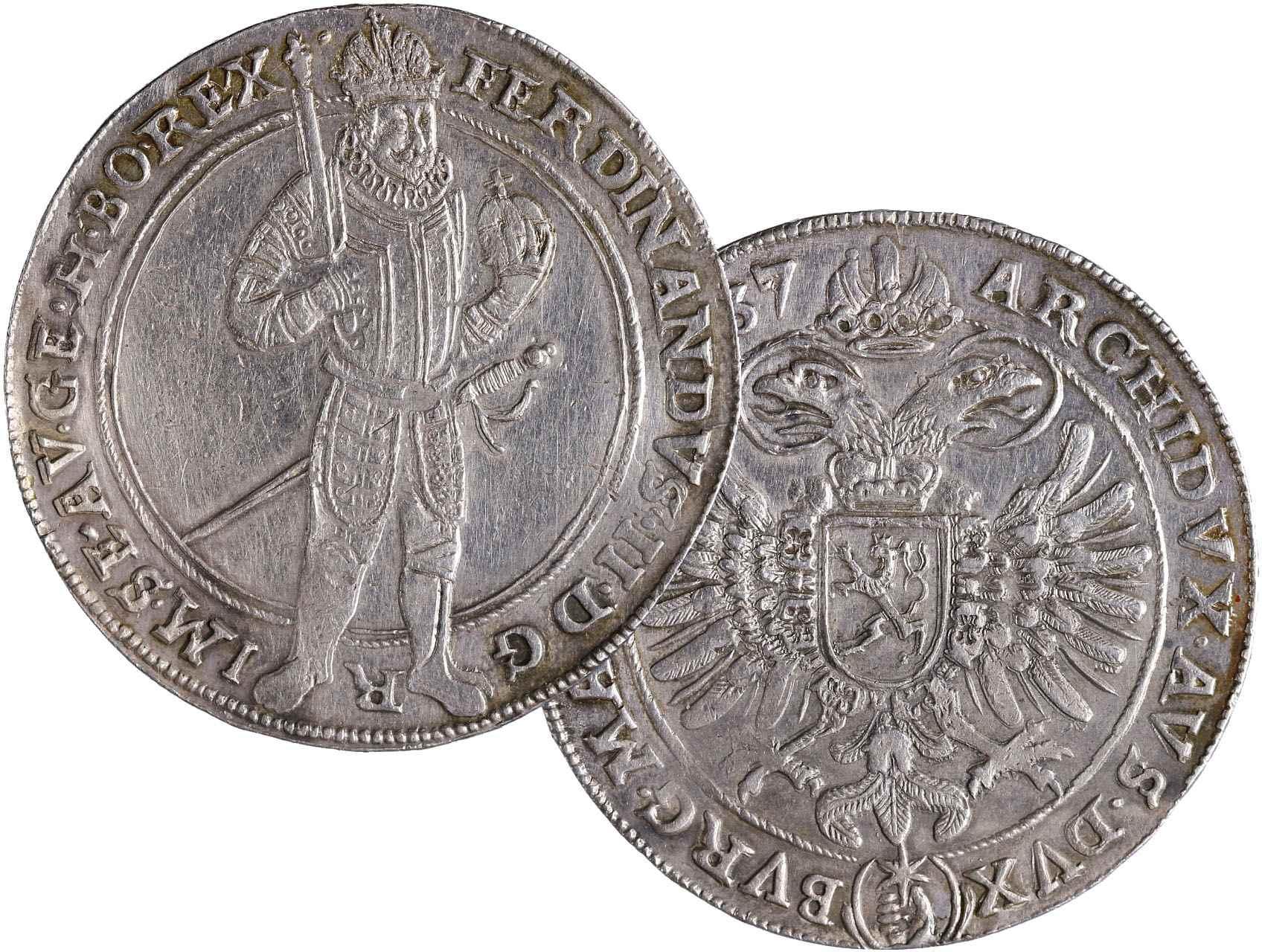 Ferdinand II. 1619-1637 - Tolar 1637 Praha