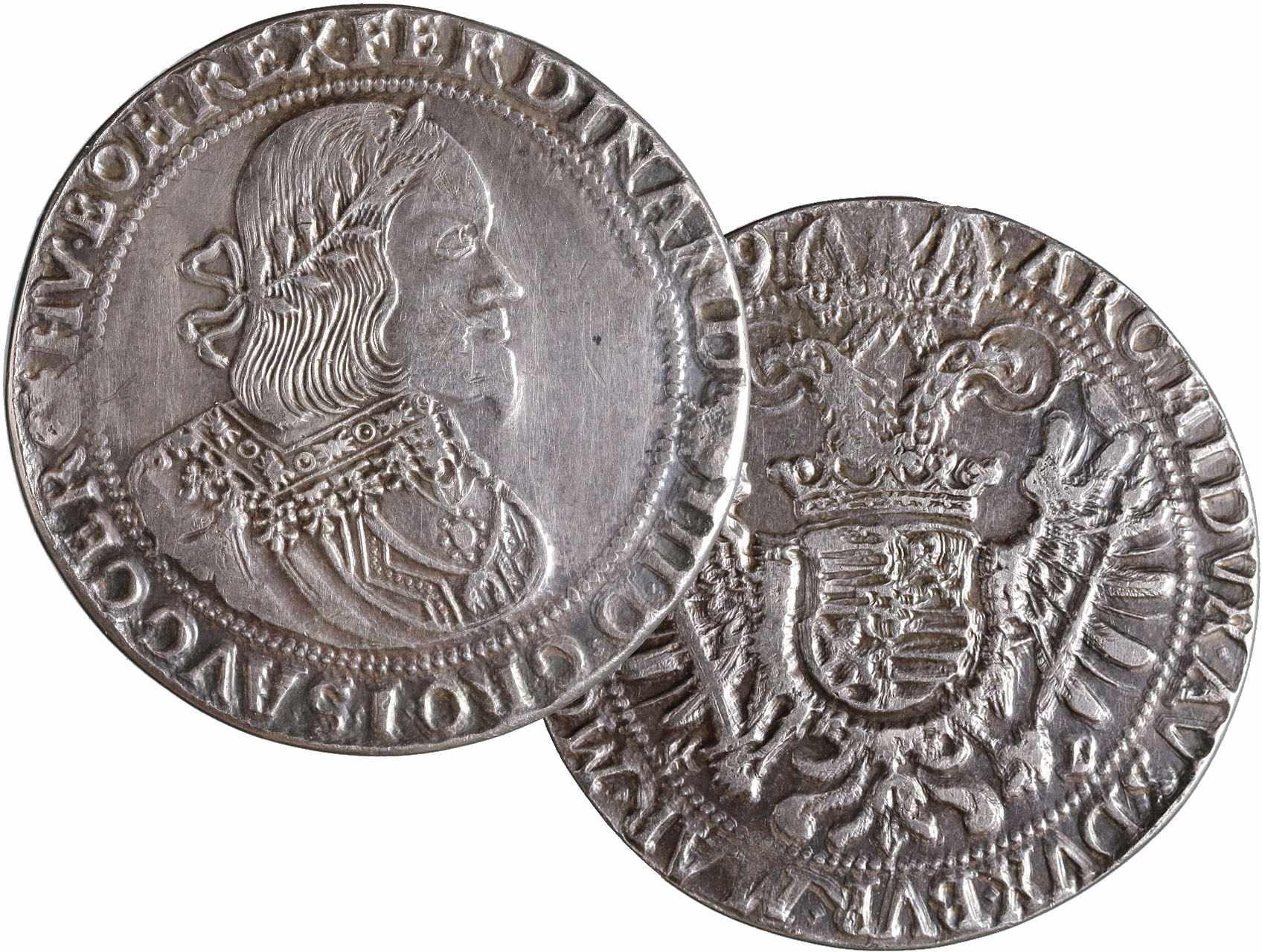 Ferdinand III. 1637-1657 - Ag Replika 5-ti Tolaru 1659 - tlustý střižek
