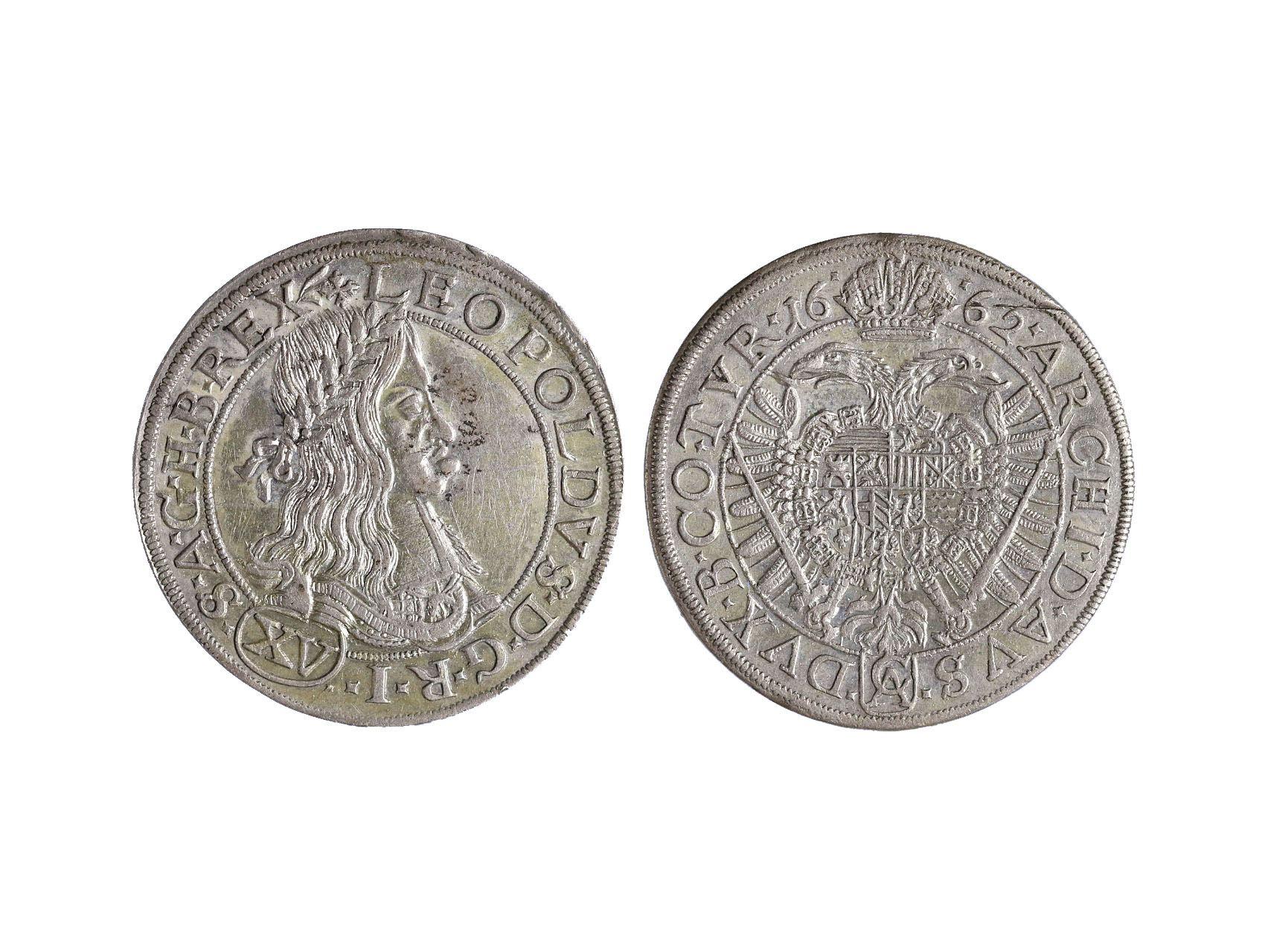 Leopold I. 1657-1705 - XV. Krejcar 1662 Wien
