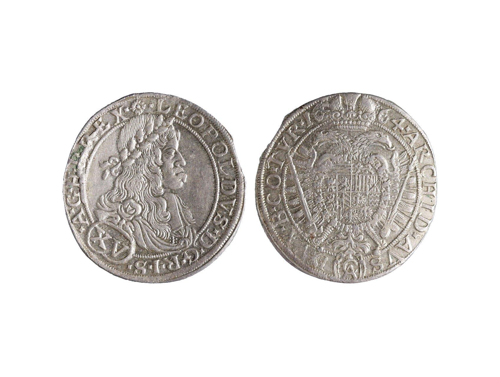 Leopold I. 1657-1705 - XV. Krejcar 1664 Wien, Andrea Cetto