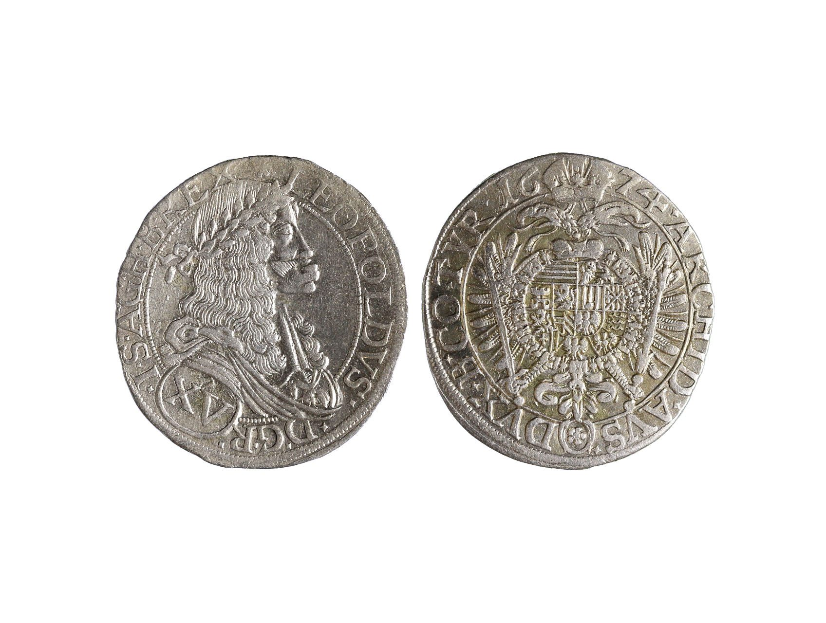 Leopold I. 1657-1705 - XV. Krejcar 1674 Wien, Franz Faber
