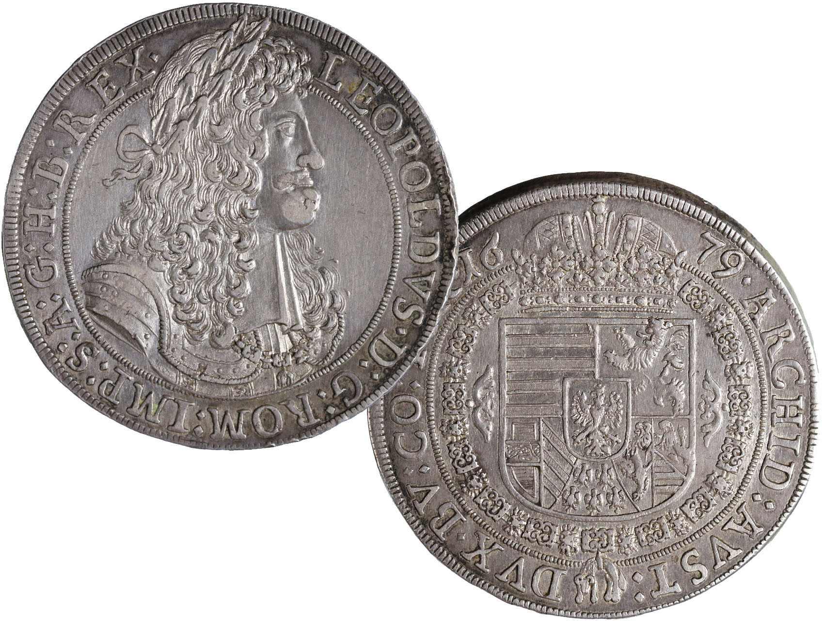 Leopold I. 1657-1711 - Tolar 1679 Hall, Her. 628, N35, dr. hr.