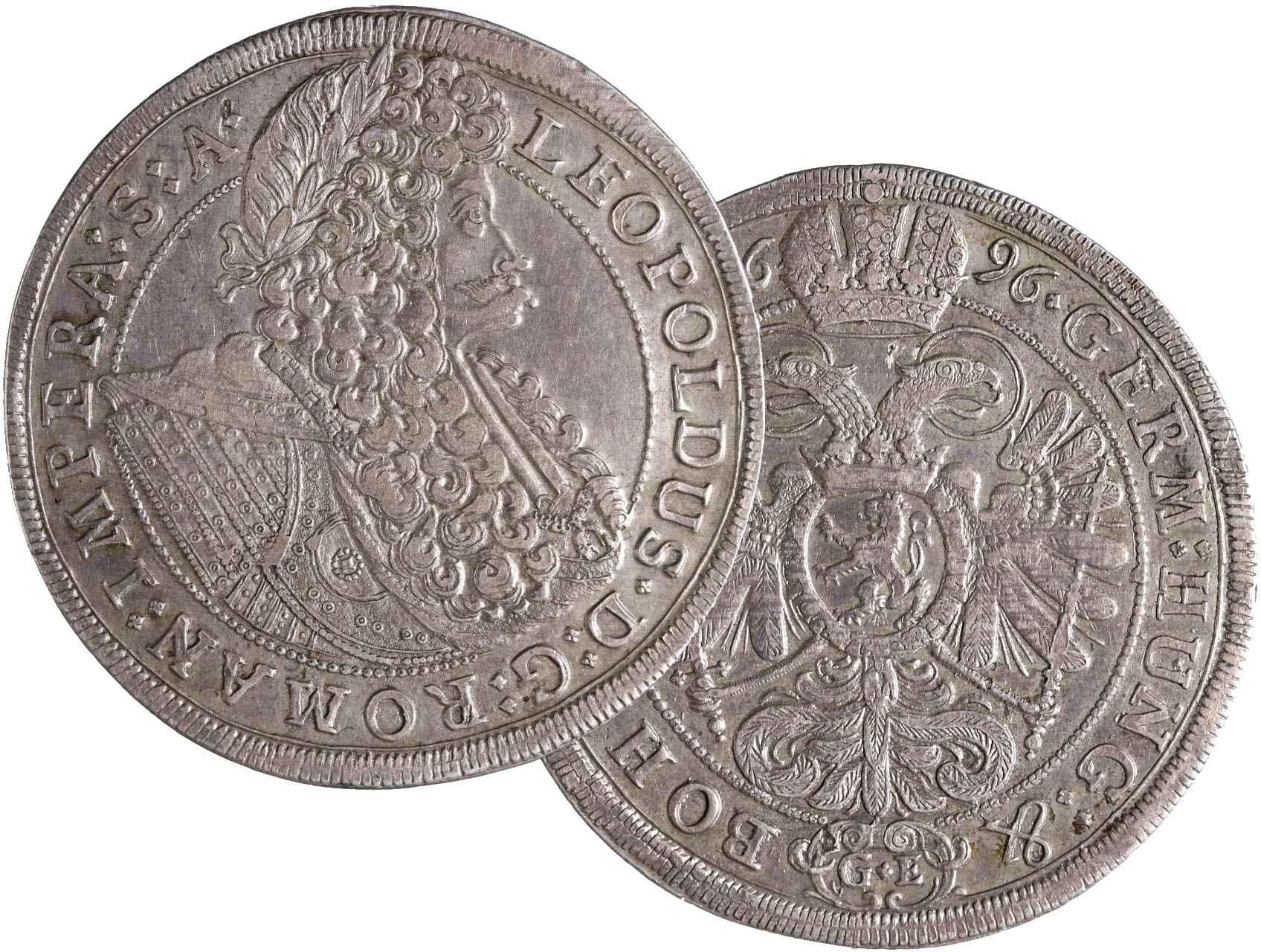 Leopold I. 1657-1705 - Tolar 1696 Praha, Georg Egerer, Hal. 1393, Her. 656, N36