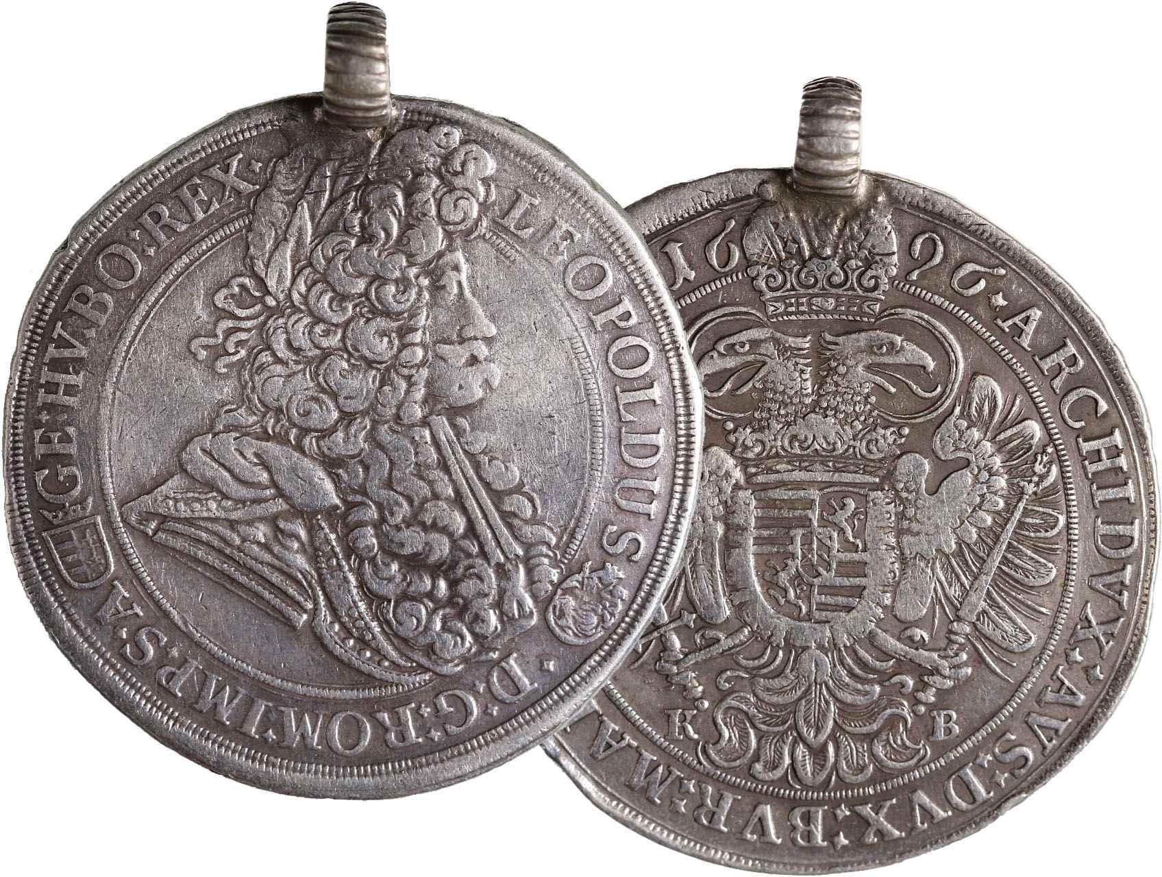 Leopold I. 1657-1711 - Tolar 1696 KB Kremnice, KM214.8, dobové očko