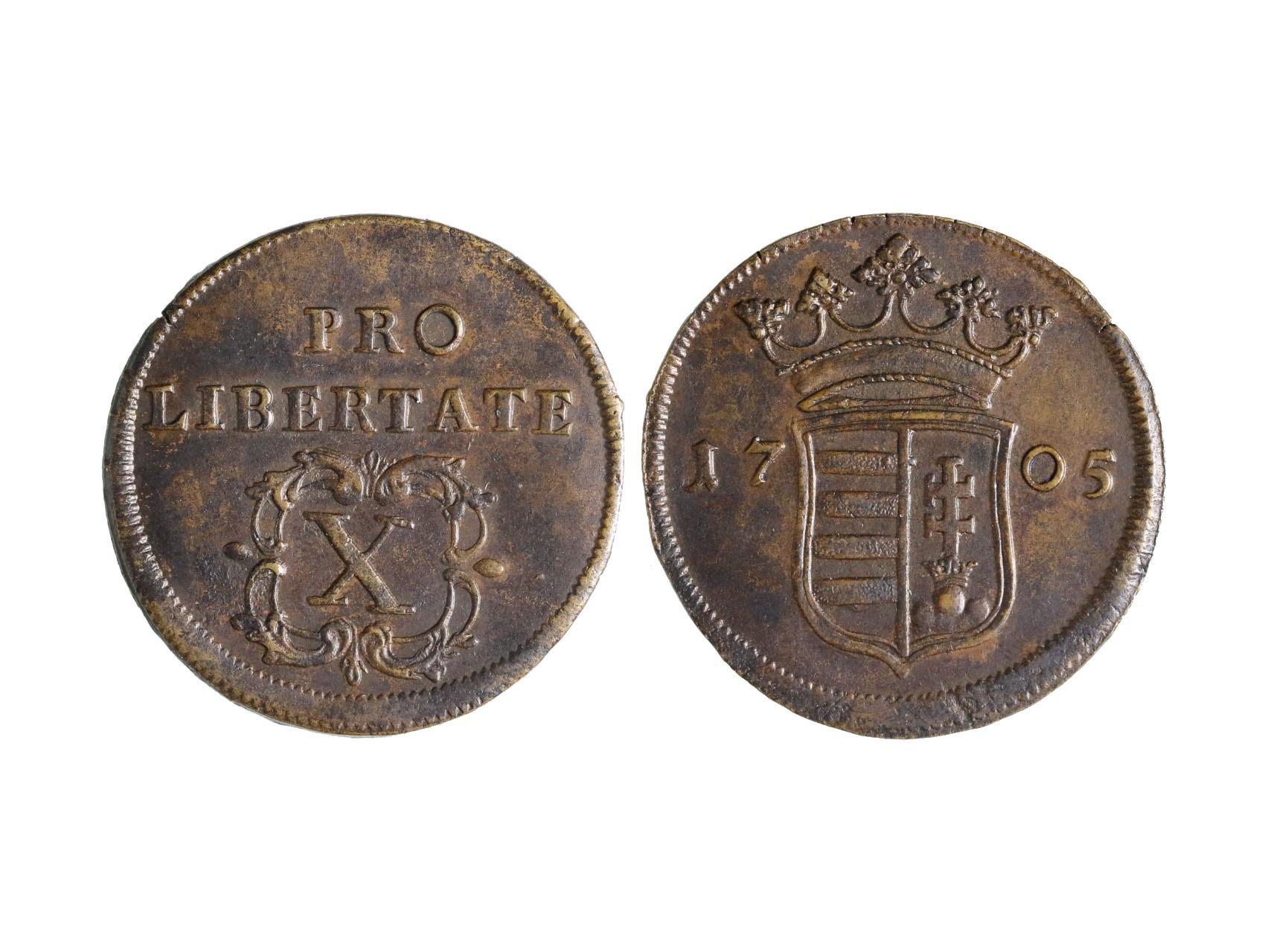 Malkotenti 1704-1708 - X.Poltura 1705 b.z., krásný stav