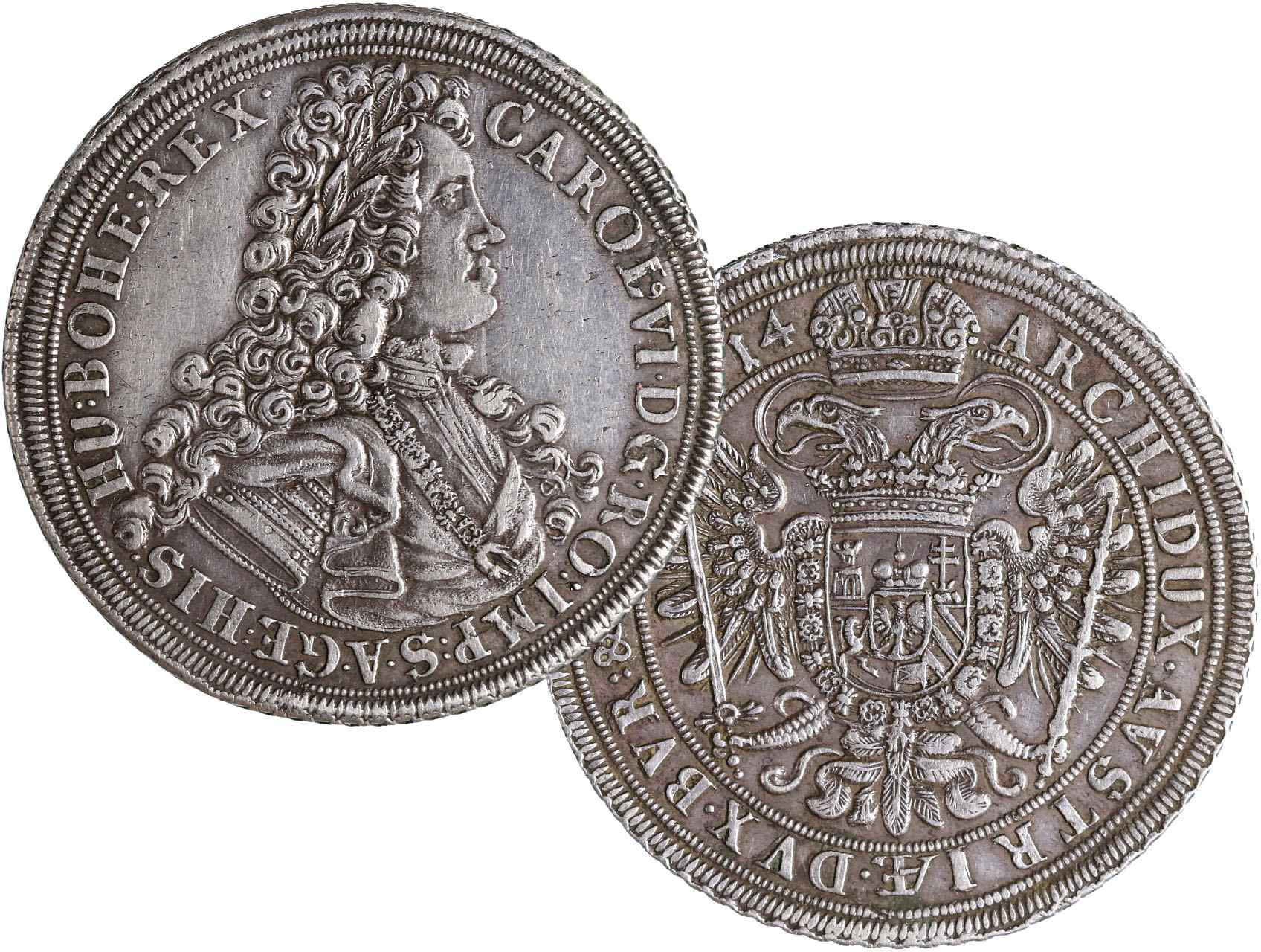 Karel VI. 1711-1740 - Tolar 1714 Vratislav, Hal. 1903