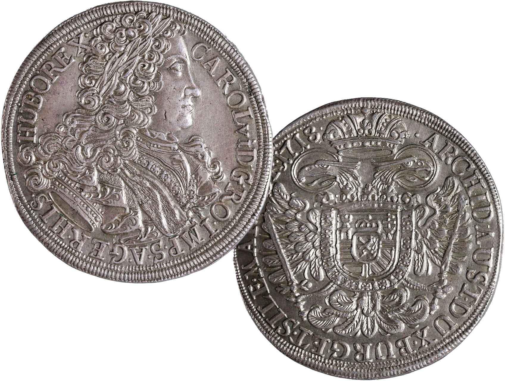 Karel VI. 1711-1740 - Tolar 1718 Praha, Hal. 1799, Dit. 1008