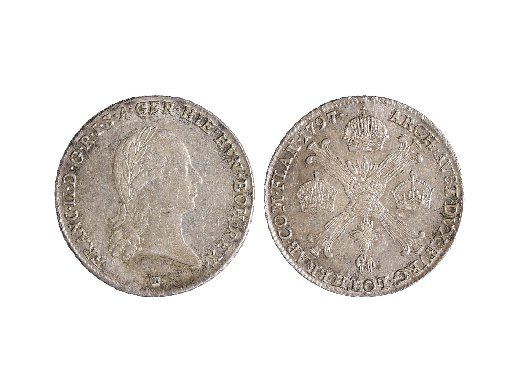 František I. 1792-1835 - 1/4 Tolar křížový 1797 B
