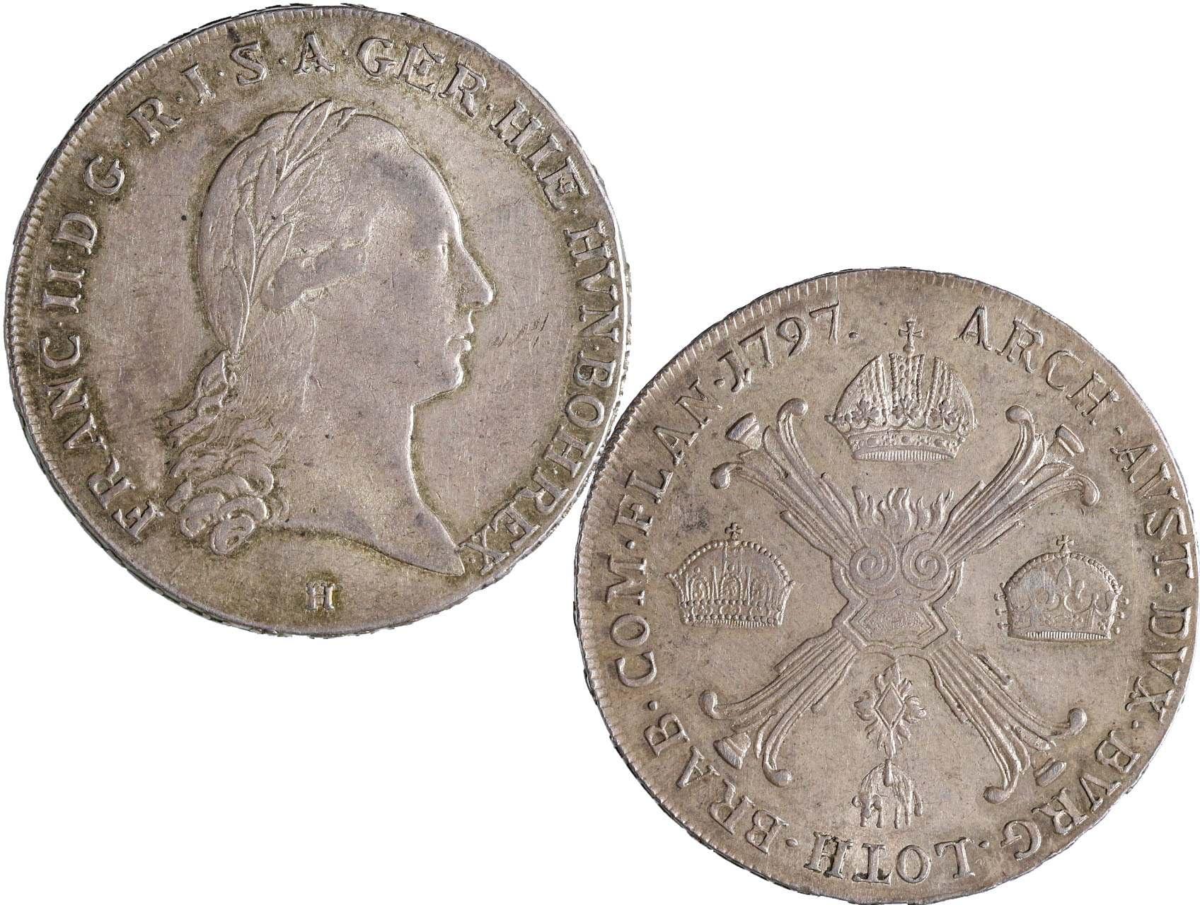 František I. 1792-1835 - Tolar křížový 1797 H
