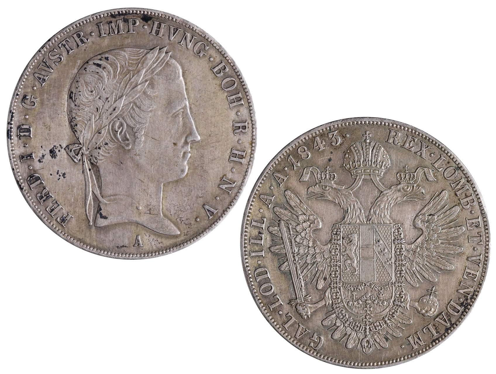 Ferdinand V 1835-1848 - Tolar 1843 A
