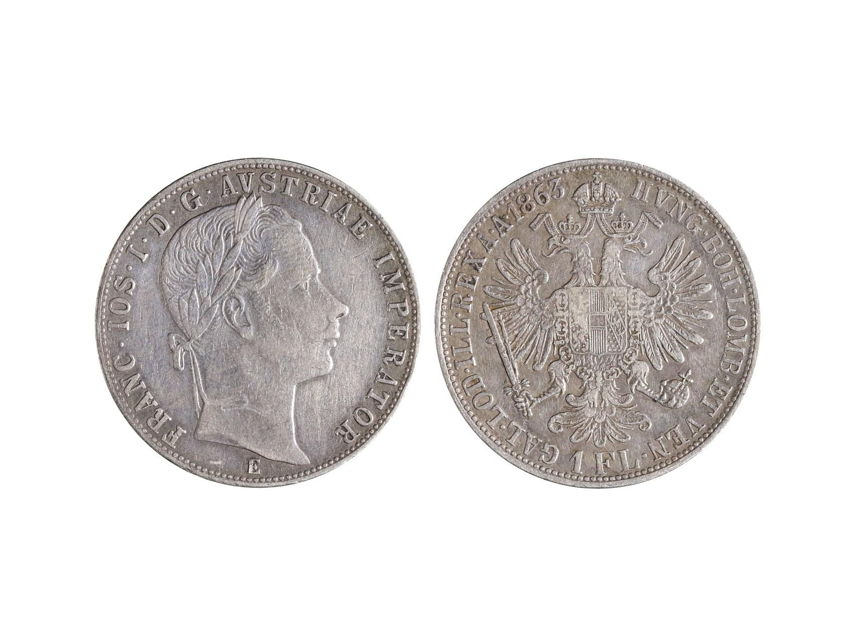 František Josef I. 1848-1916 - 1 Zlatník 1863 E, N39