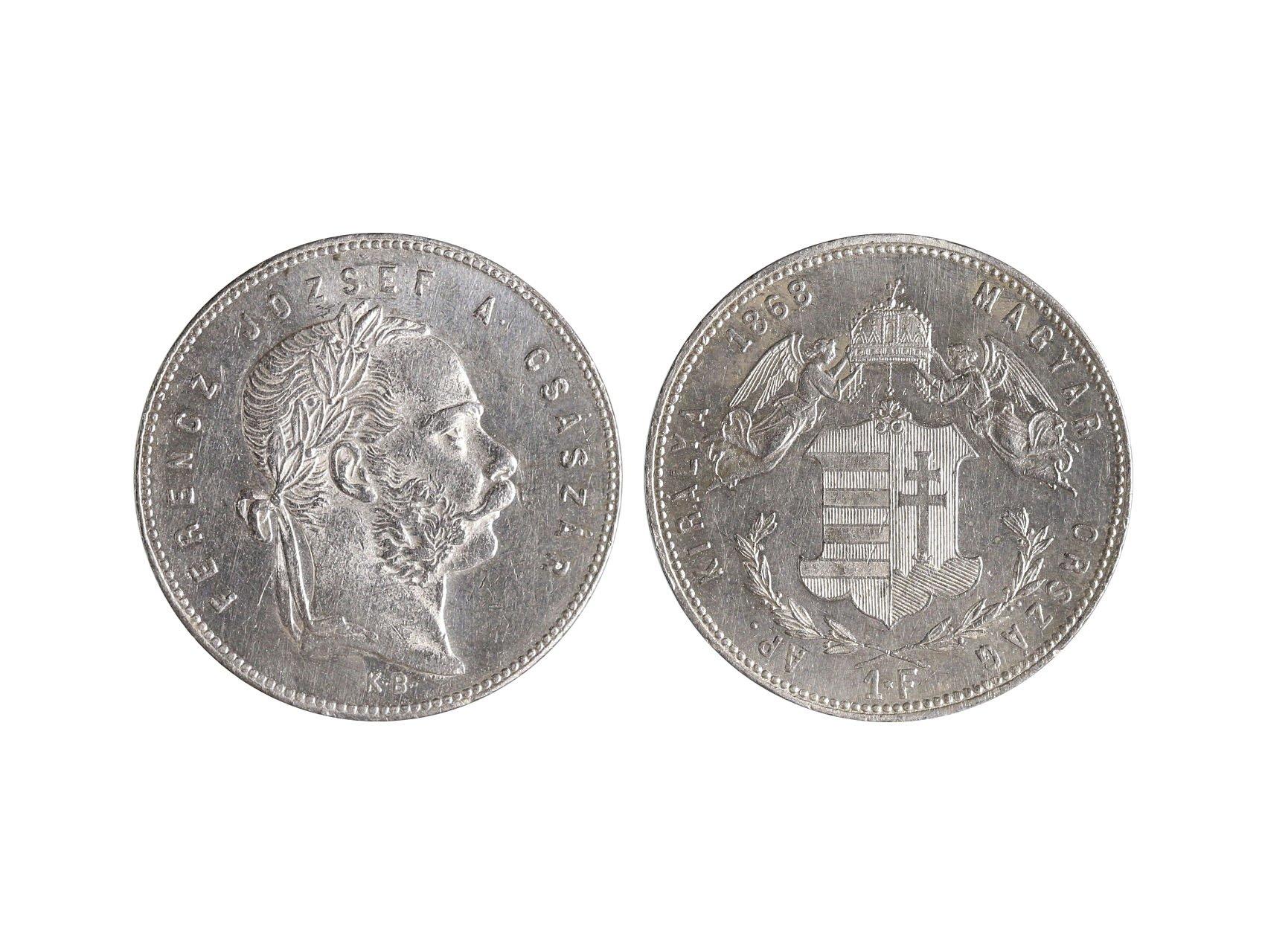 František Josef I. 1848-1916 - 1 Forint 1868 KB, N43