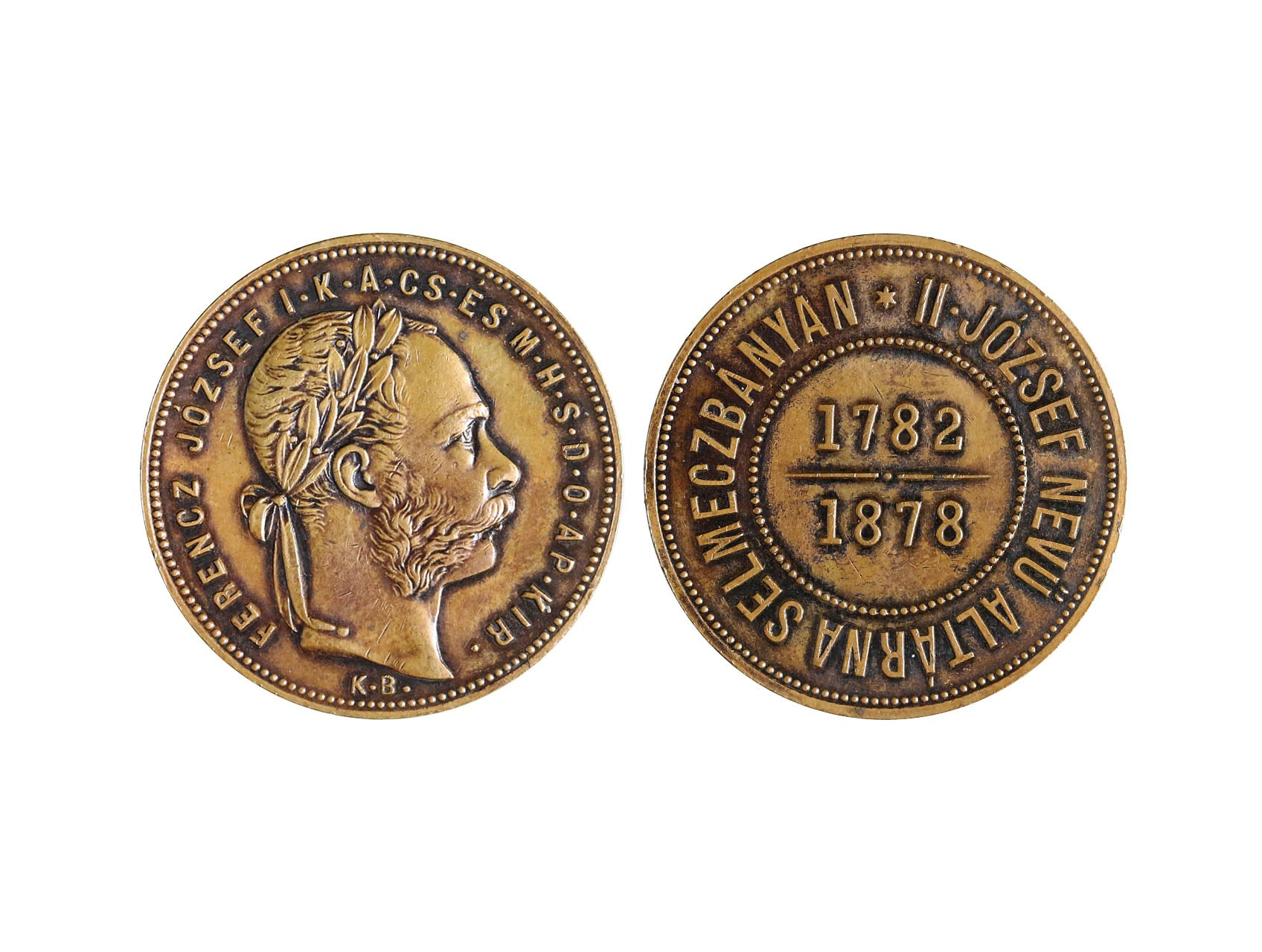 František Josef I. 1848-1916 - 1 Forint 1878 KB bansko - štiavnický, Cu odražek
