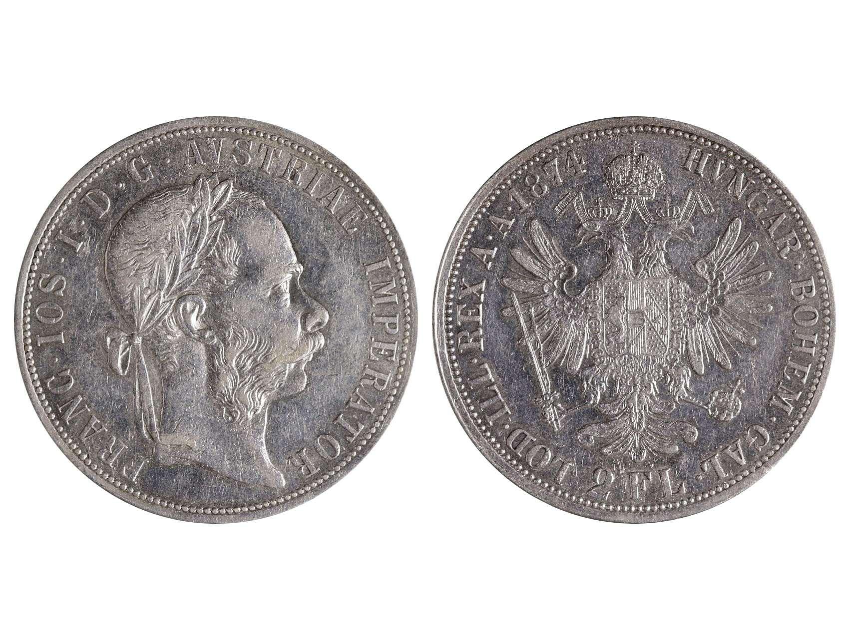 František Josef I. 1848-1916 - 2 Zlatník 1874, N51