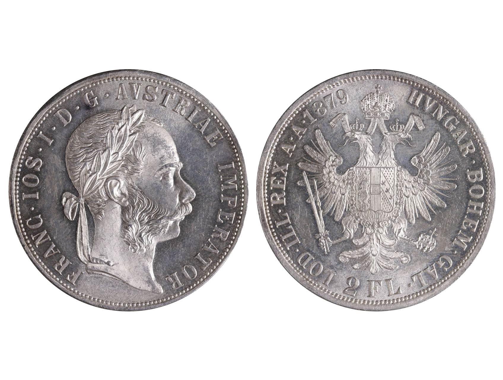František Josef I. 1848-1916 - 2 Zlatník 1879, N51