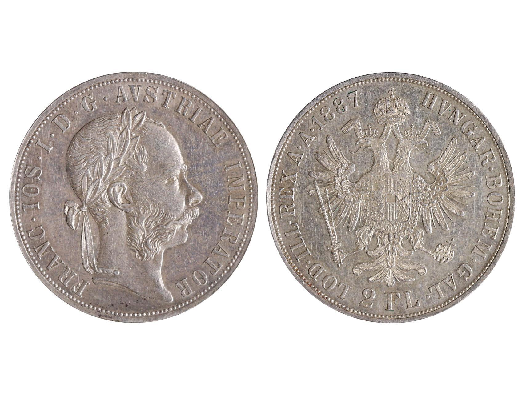 František Josef I. 1848-1916 - 2 Zlatník 1887, N51