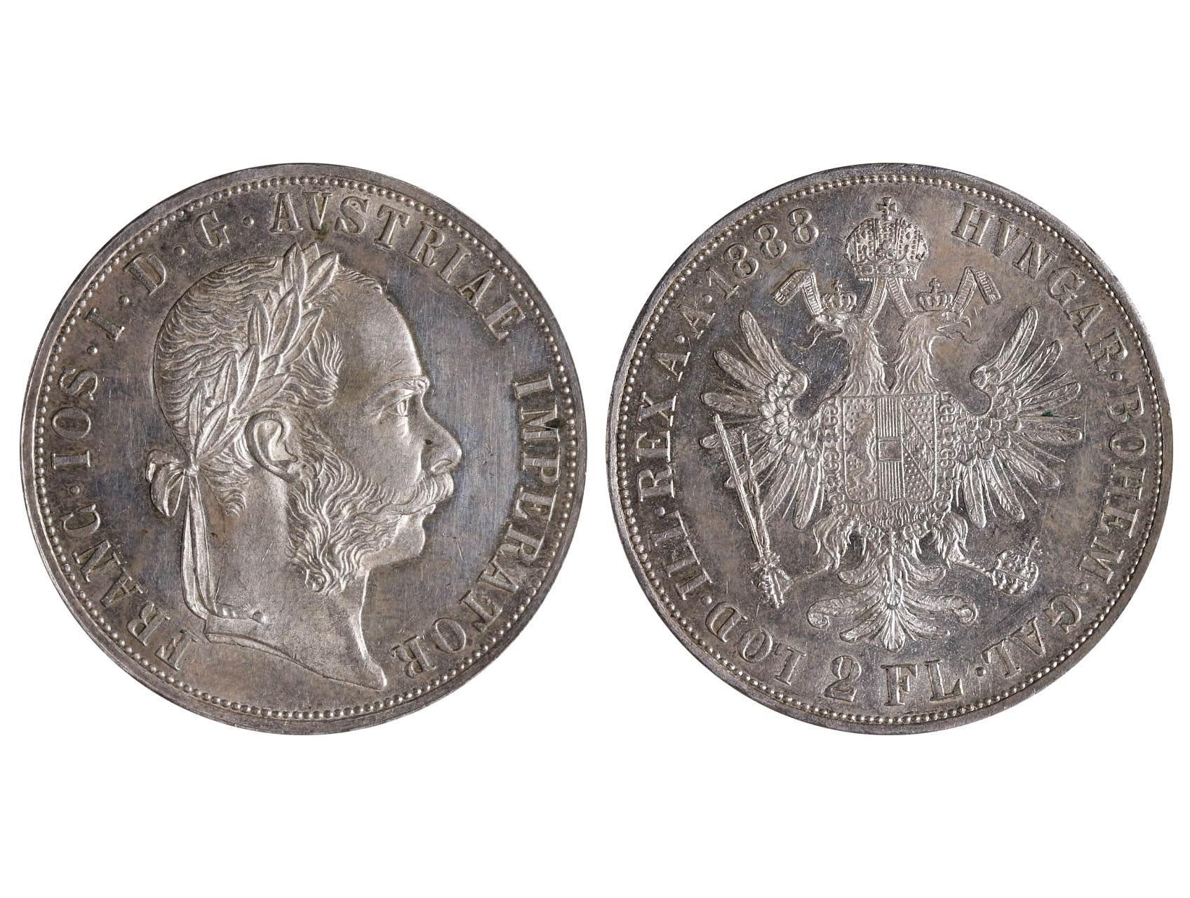 František Josef I. 1848-1916 - 2 Zlatník 1888, N51