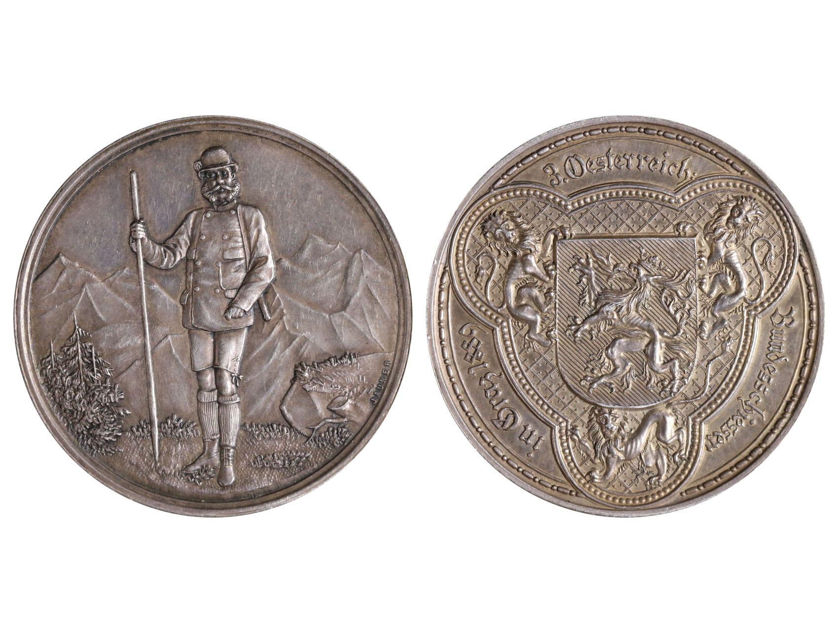 František Josef I. 1848-1916 - 2 Zlatník 1889 III.Celorakouské střelby v Grazu, Ag, N164a