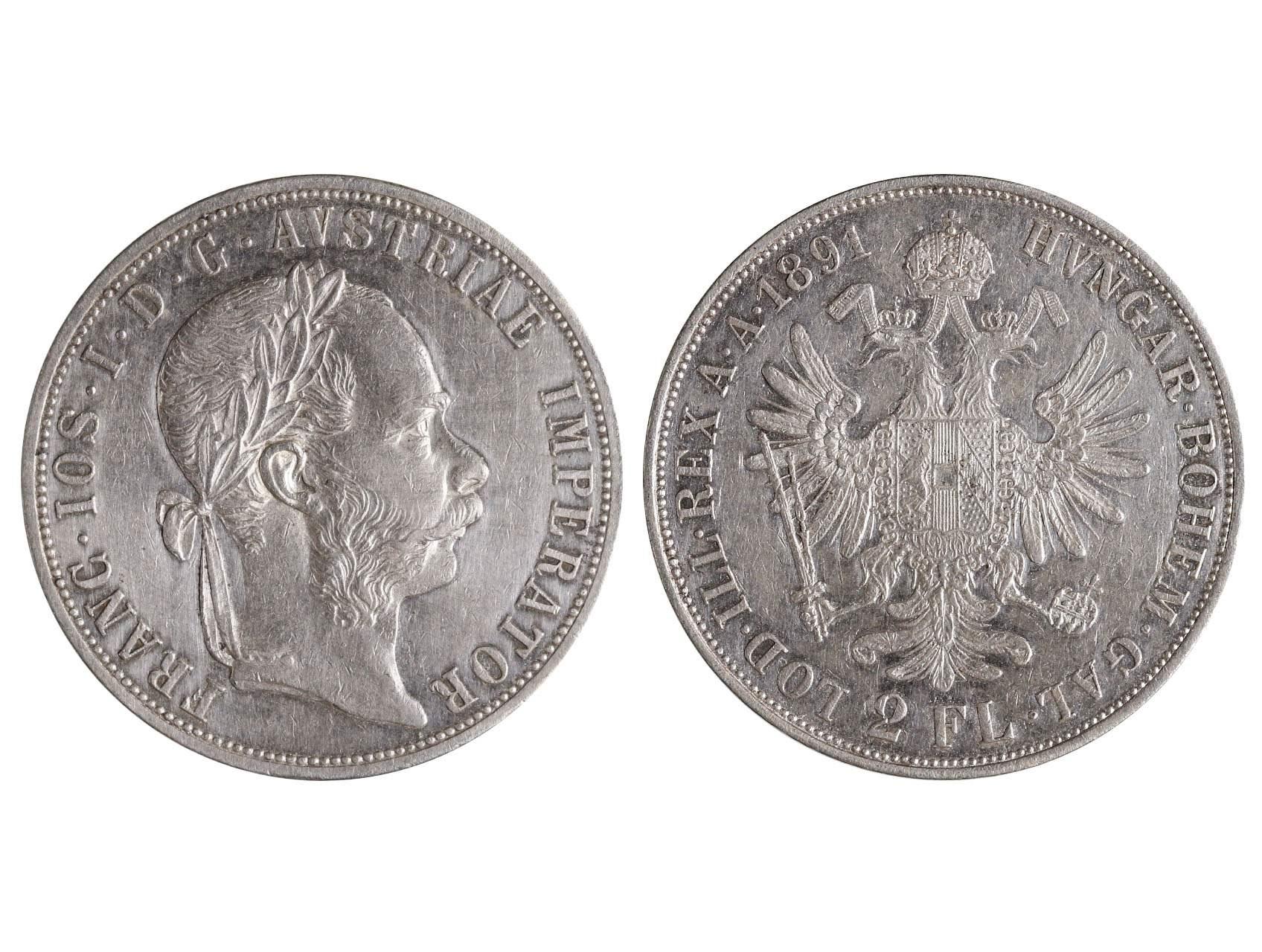 František Josef I. 1848-1916 - 2 Zlatník 1891, N51