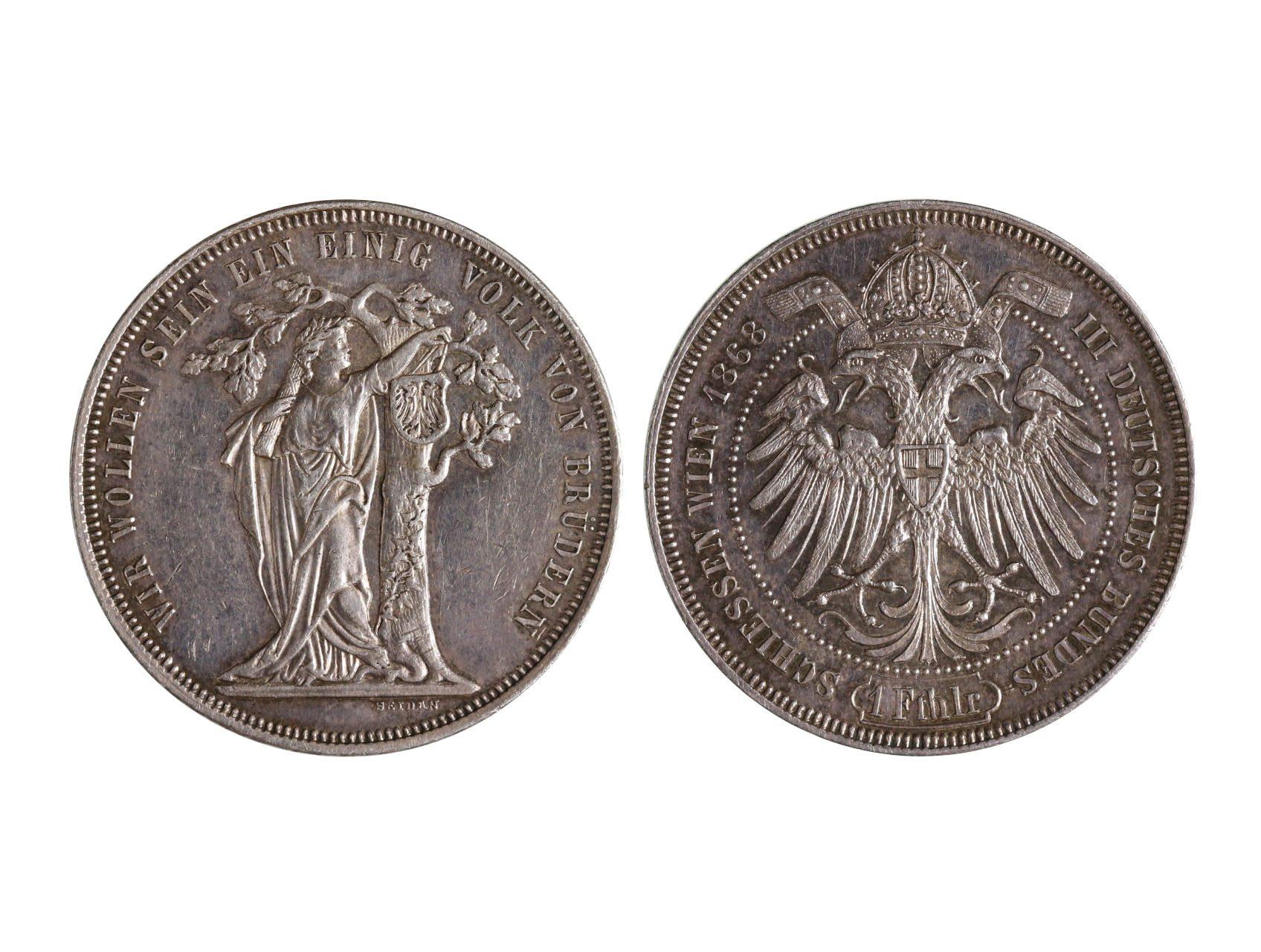 František Josef I. 1848-1916 - Střelecký Tolar 1868 Cena III.spol. střeleckých závodů ve Vídni, N145
