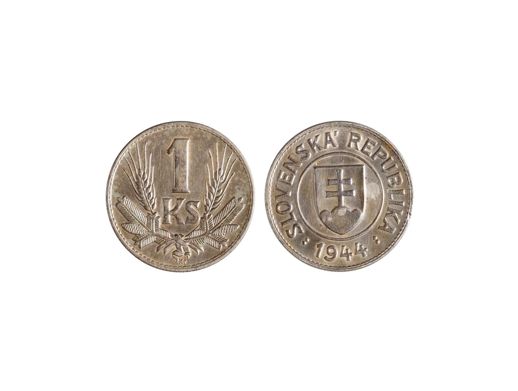 Slovenská Republika 1939-1945 - 1 Koruna 1944, N30