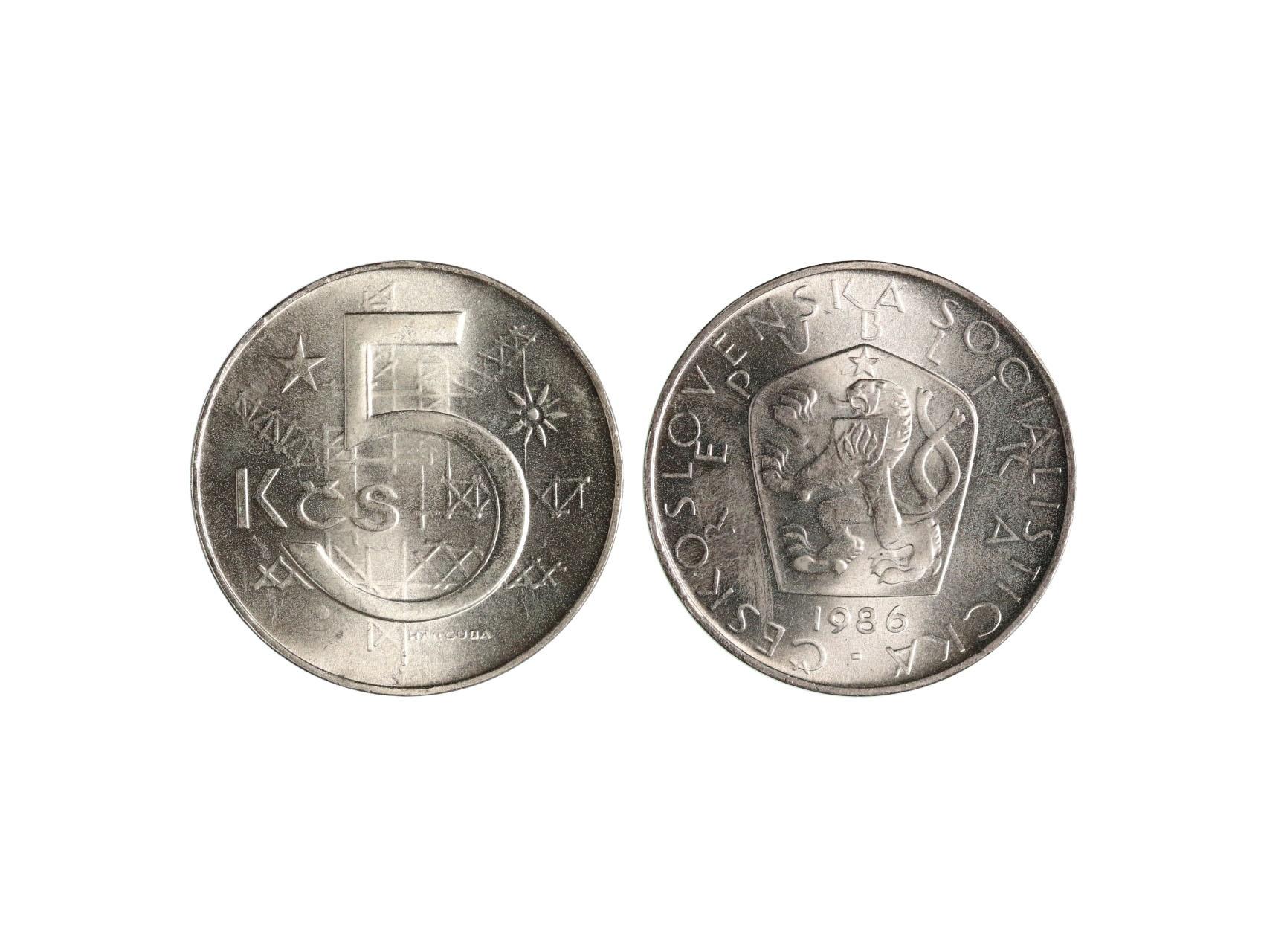 ČSSR 1953-1992 - 5 Koruna 1986, N69