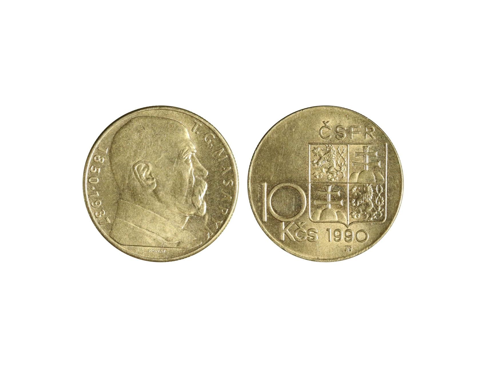 ČSSR 1953-1992 - 10 Kčs 1990 varianta