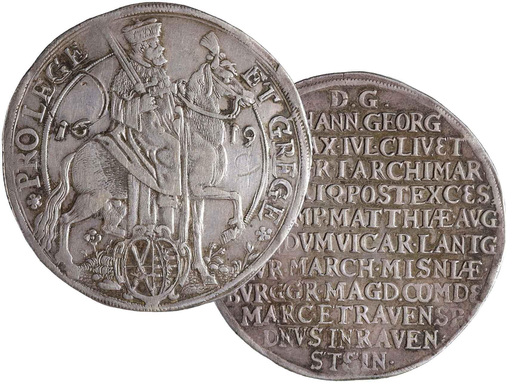 Sasko-Albertine, Johan Georg I. 1615-1656 - Tolar 1619, KM 119