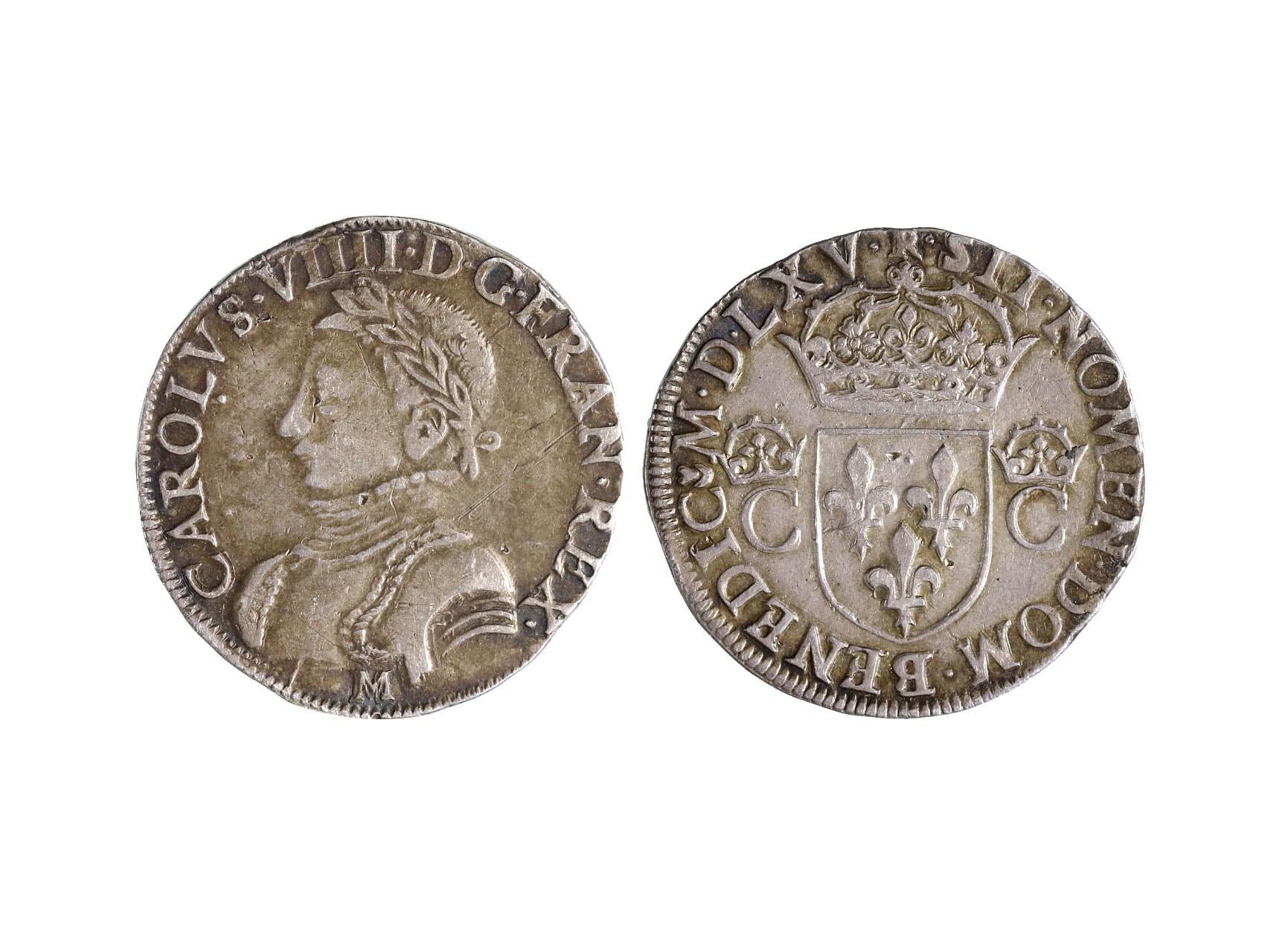 Francie, Karel IX. 1560-1574 - Teston 1565 M, minc. Tolouse, 9.44 g.