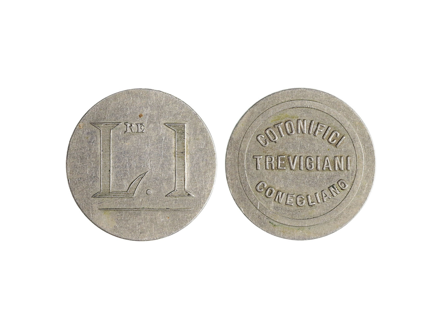 Itálie, nouzové platidlo 1 Lire COTONIFICI TREVIGIANI CONEGLIANO