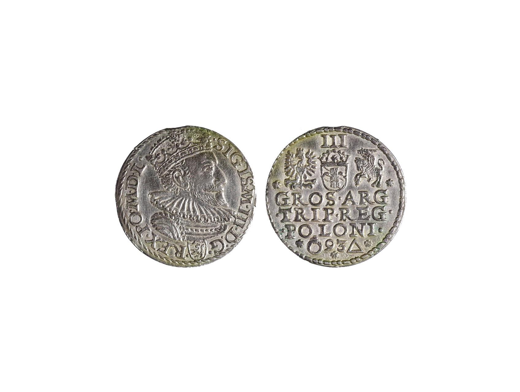 Polsko, Zikmund III. Vasa 1587-1632 - III Groš 1593, Malbork