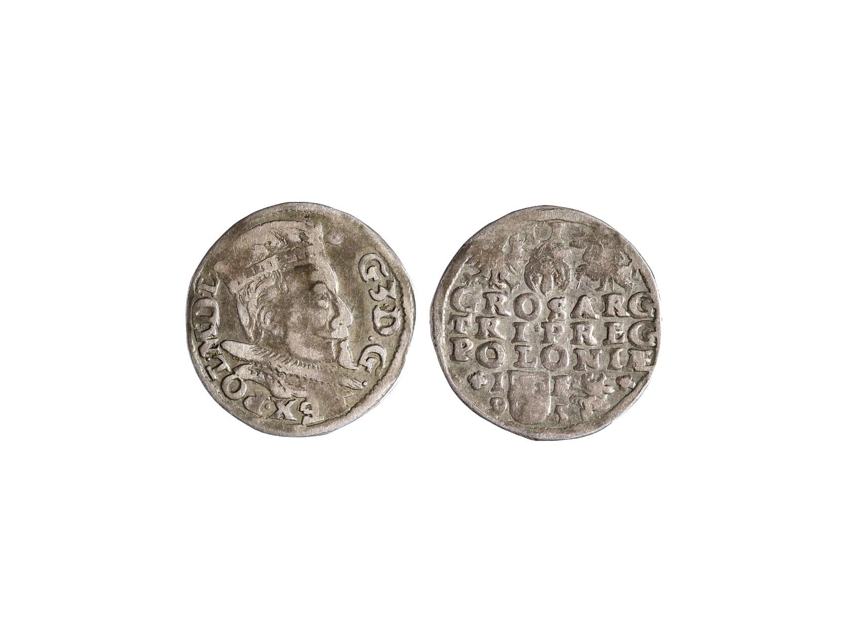 Polsko, Zikmund III. Vasa 1587-1632 - III. Groš 1595 Lubin, Ko-1015
