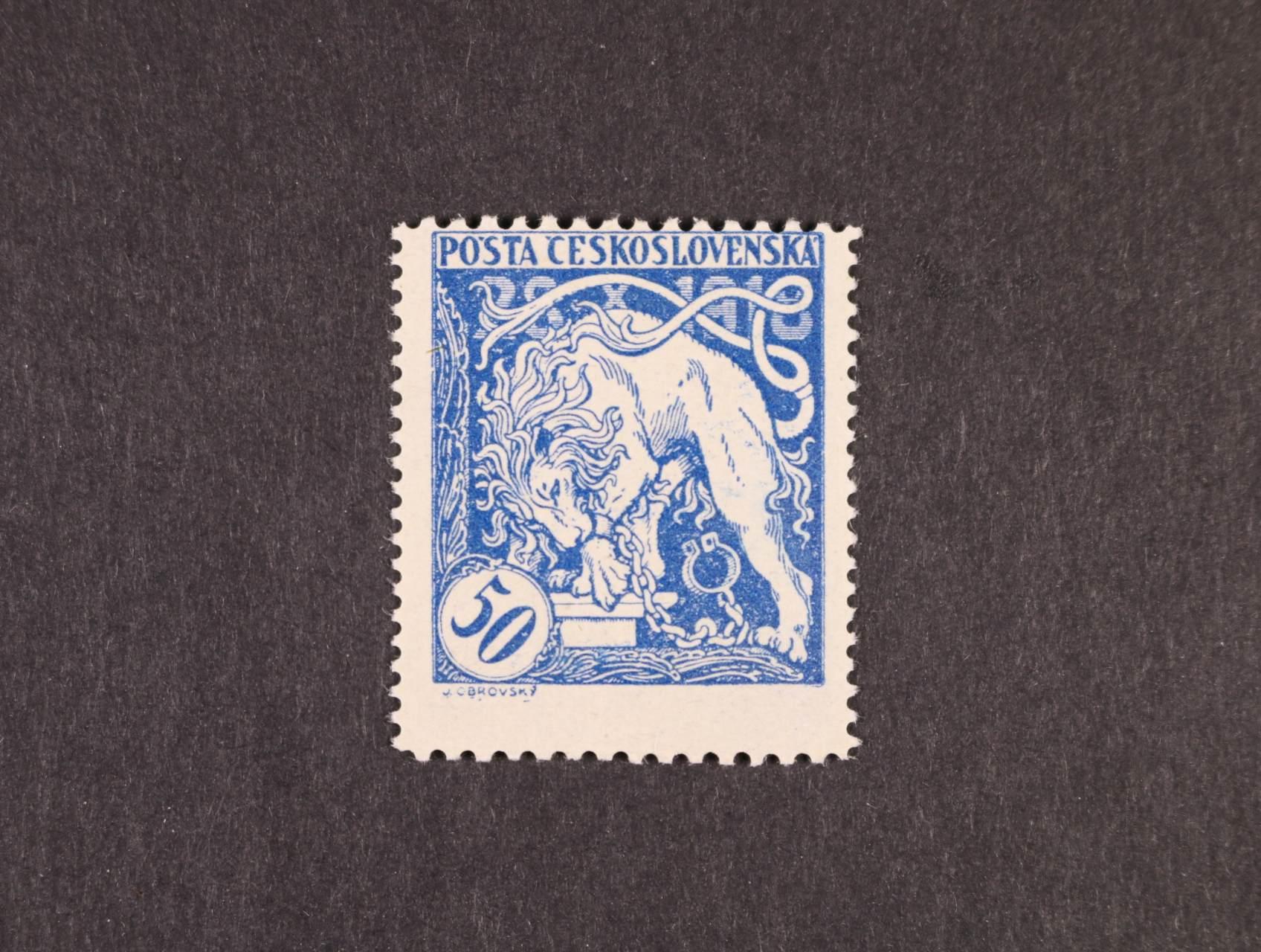 zn. č. 29 B, zk. Beneš, decentrovaná, kat. cena 1800 Kč
