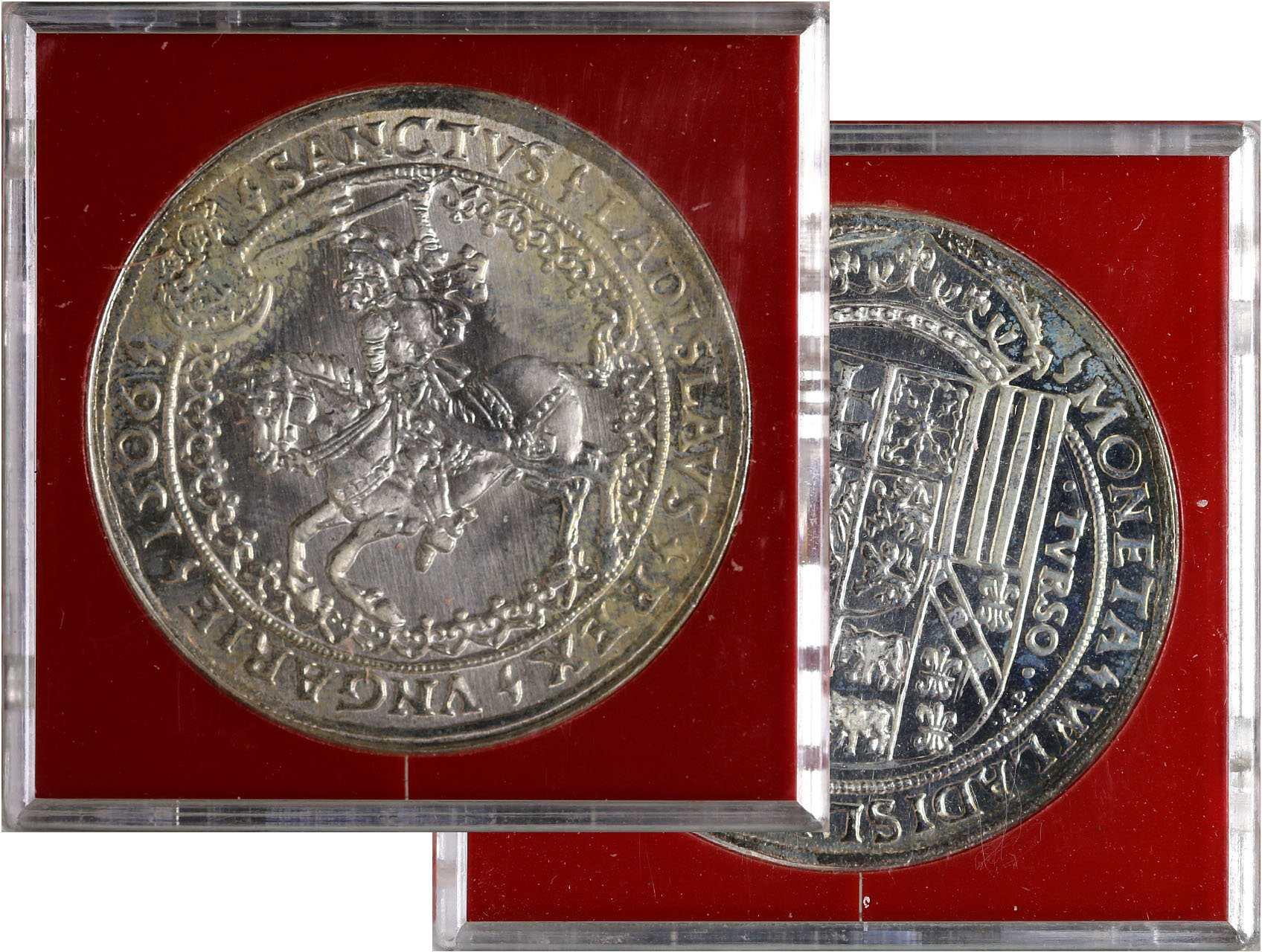 Kremnice, Ag replika Tolaru 1506, etue, obal a certifikát č.1435 Artia