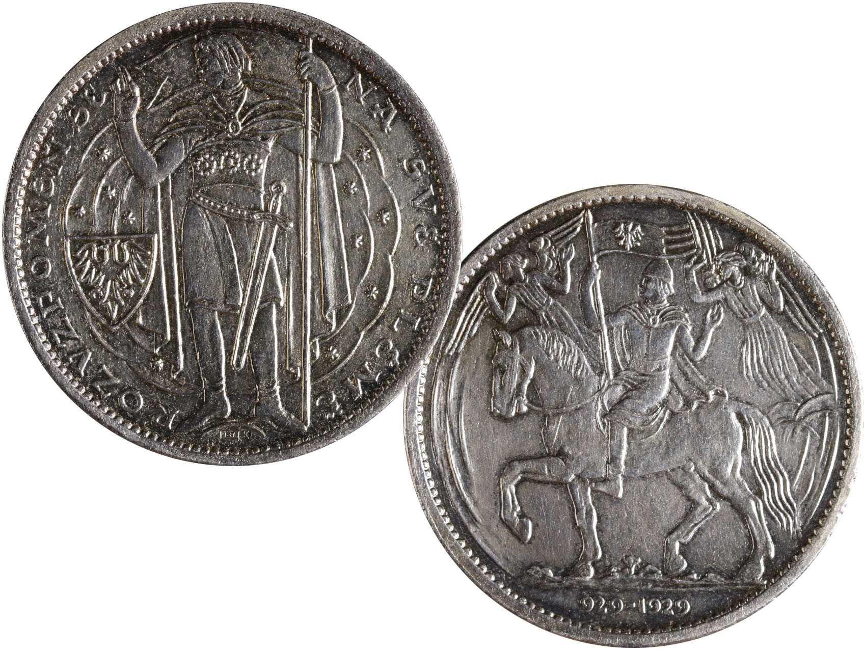 Španiel Otakar 1881-1955 - Milénium sv. Václava 929 - 1929, Ag medaile 987, 30g, průměr 40 mm