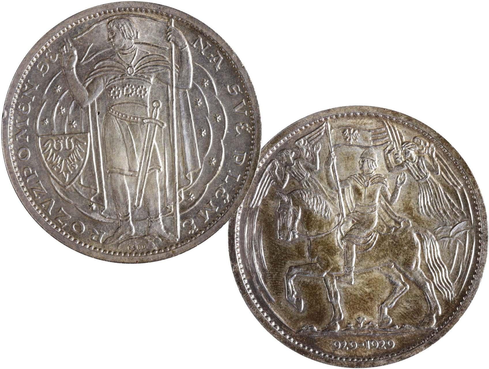 Španiel Otakar 1881-1955 - Milénium sv. Václava 929 - 1929, Ag medaile 987, 30g, průměr 40 mm, dr. hr.