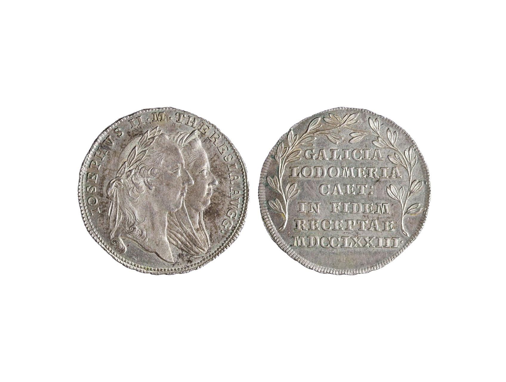 Osobnosti - Marie Terezie 1740-1780, AR žeton 1773 Holdování v Galicii