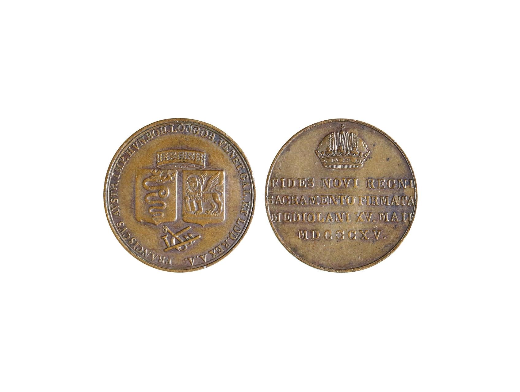 Osobnosti - František I. 1792-1835 - AE žeton 1815 Milano